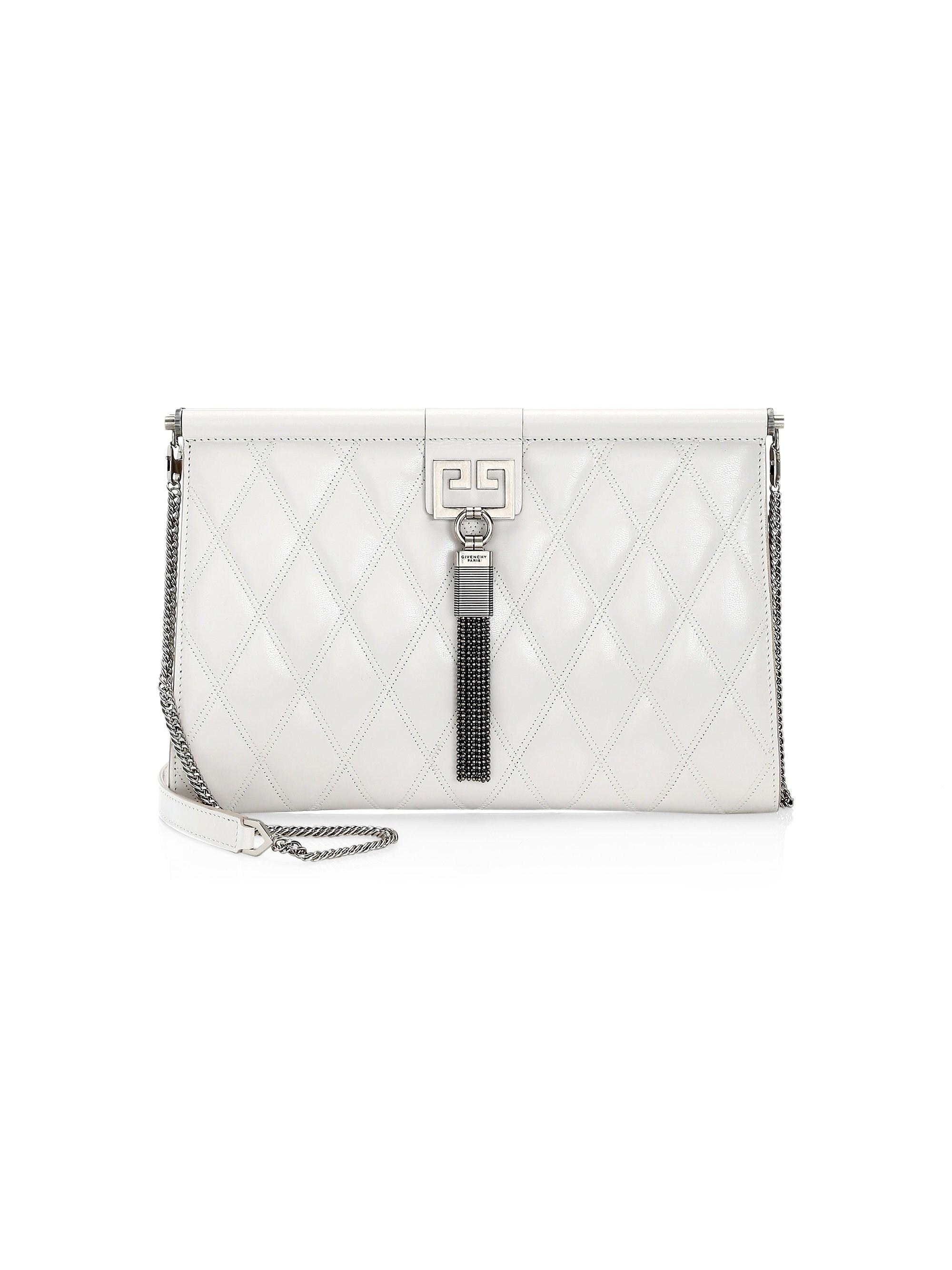 Lyst - Givenchy Women s Medium Gem Quilted Leather Shoulder Bag ... c189827b48