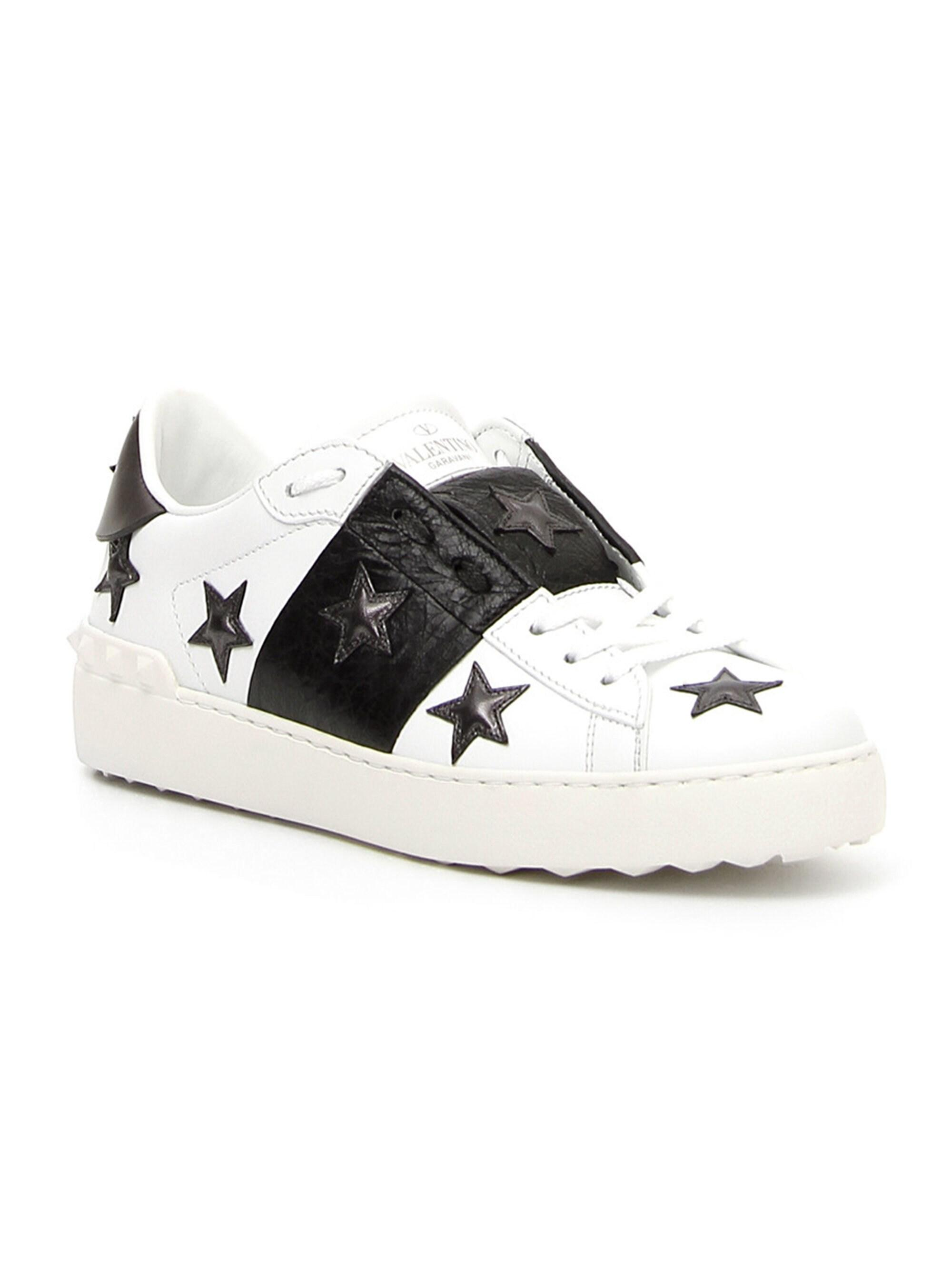 Valentino Leather Star Sneakers - Lyst