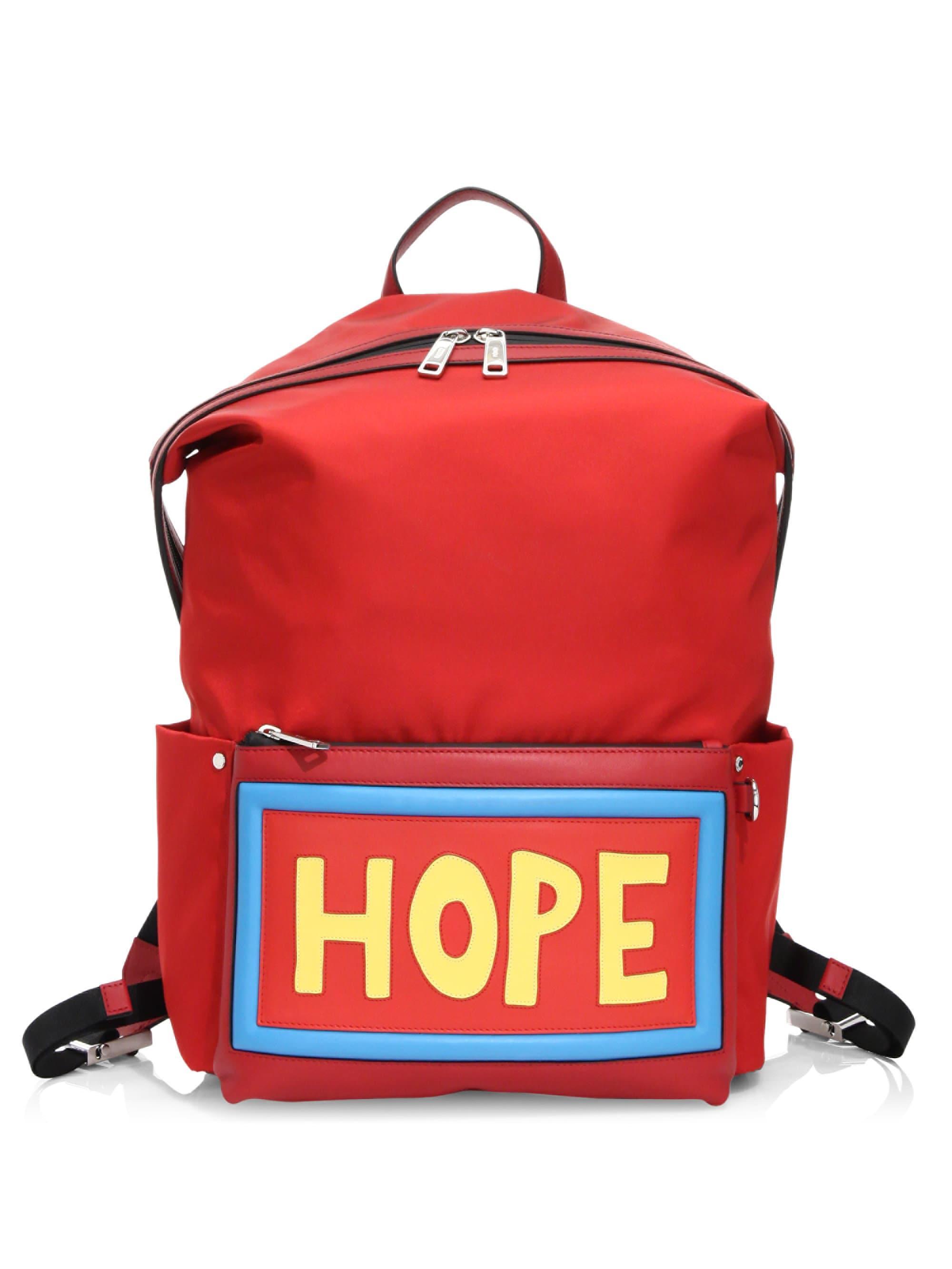928abb24c0 Fendi Men s Hope Backpack - Red in Red for Men - Lyst