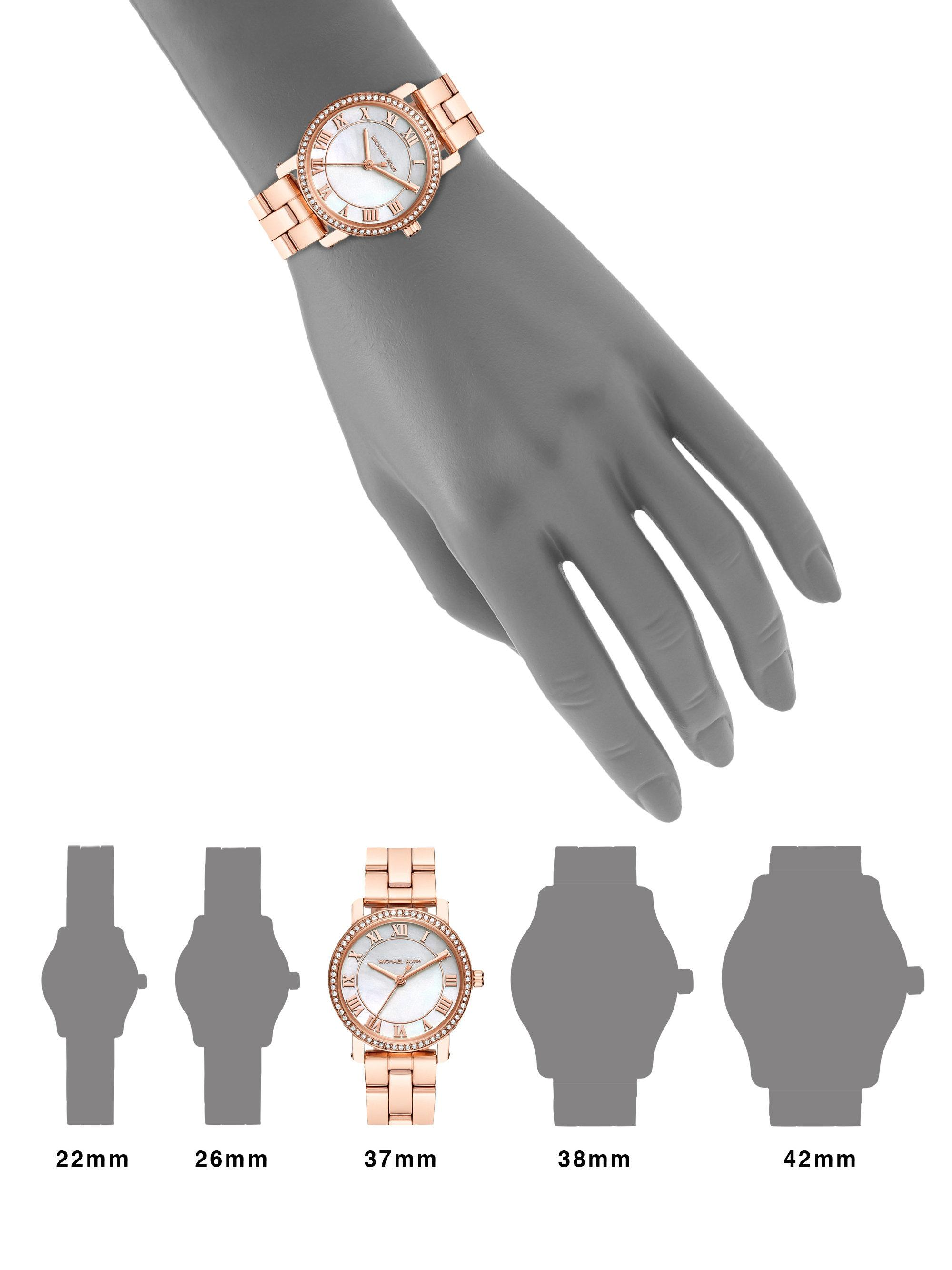 95a13b6ca4c5 Michael Kors Norie Rose Goldtone Stainless Steel Three-hand Bracelet ...