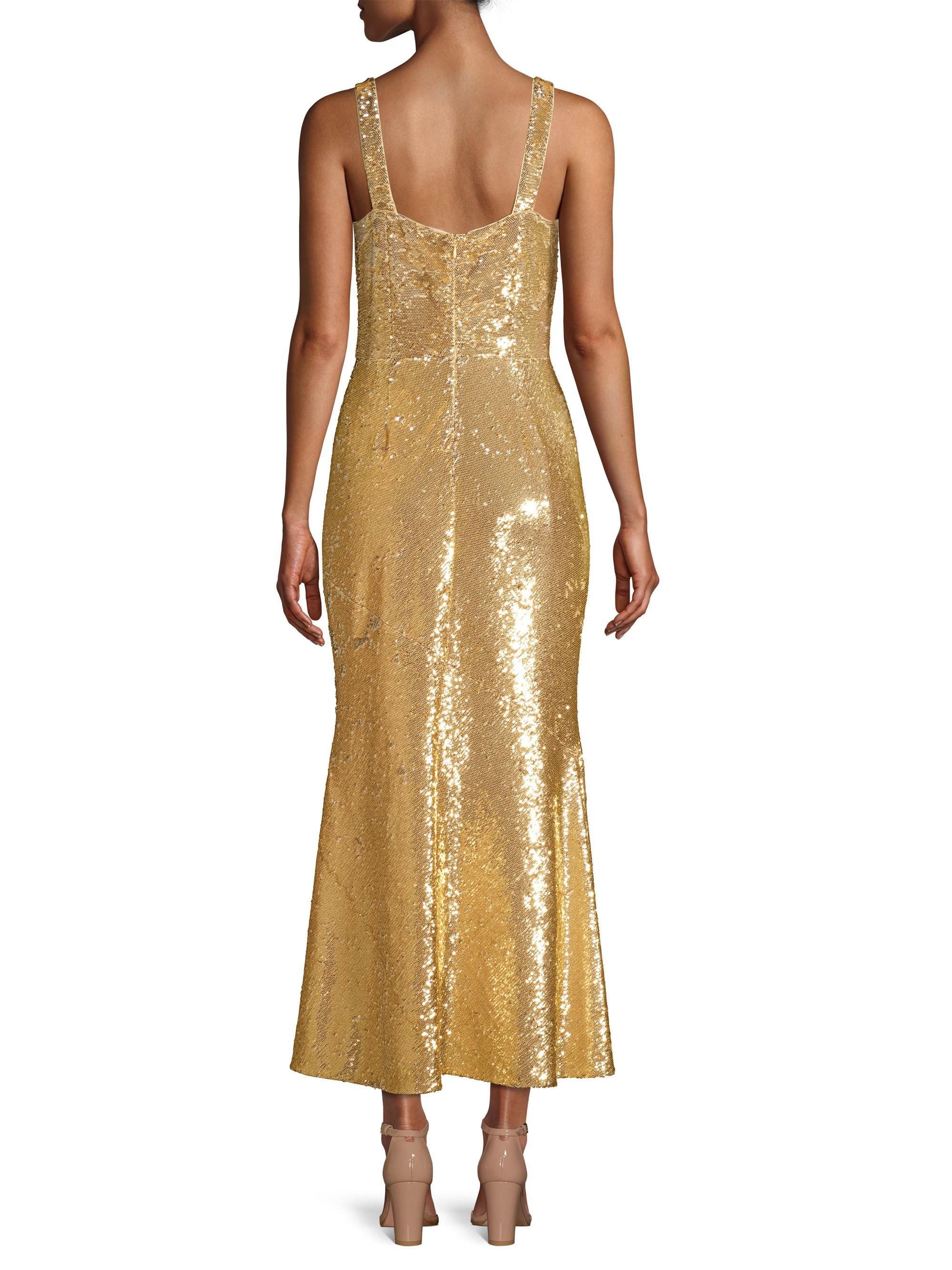 f4b17caf8d55 Rachel Zoe Lola Sequin Flounce Midi Dress in Metallic - Lyst