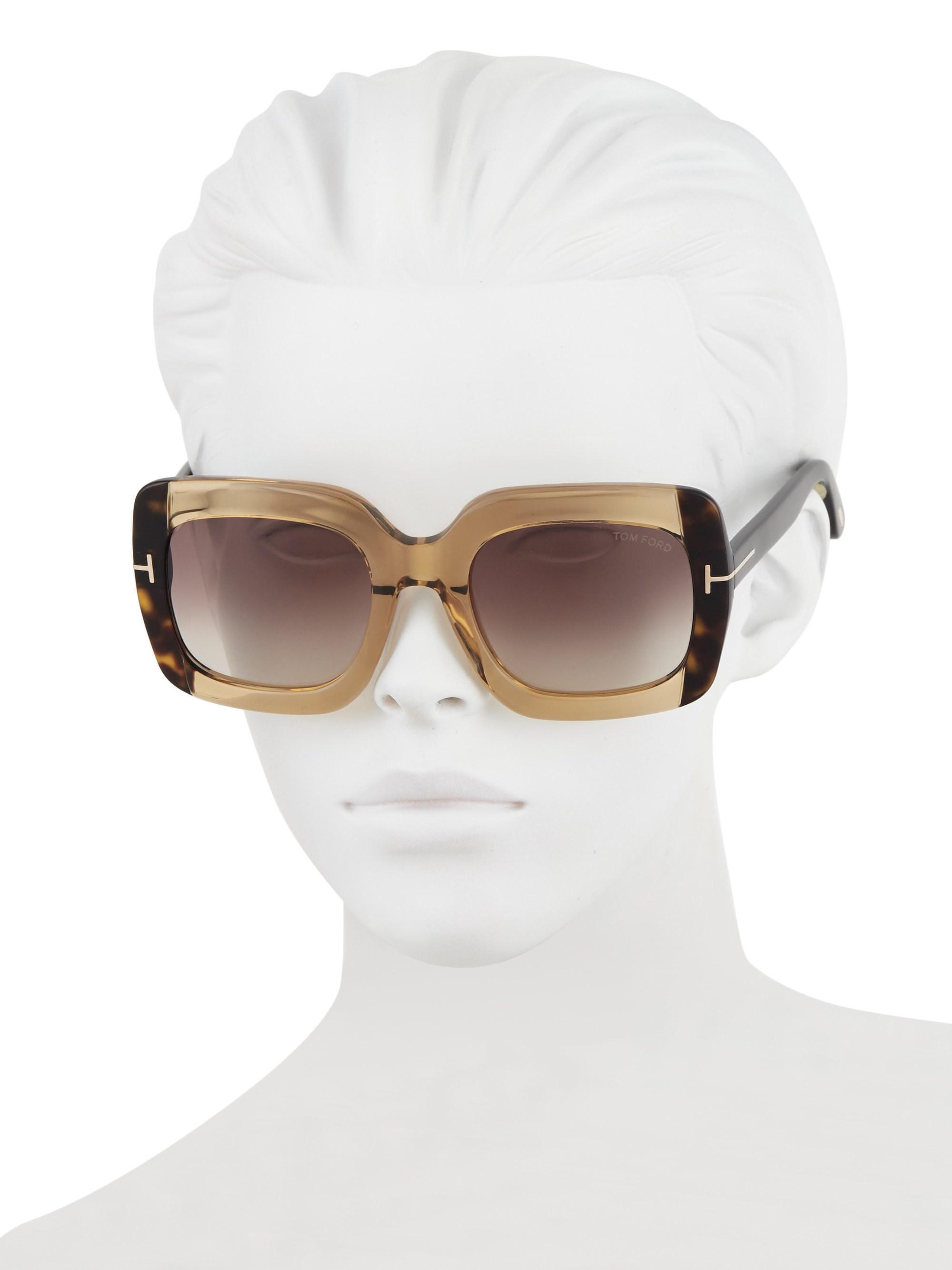c93d518a661 Tom Ford - Women s Helene Plastic Sunglasses - Brown - Lyst. View fullscreen