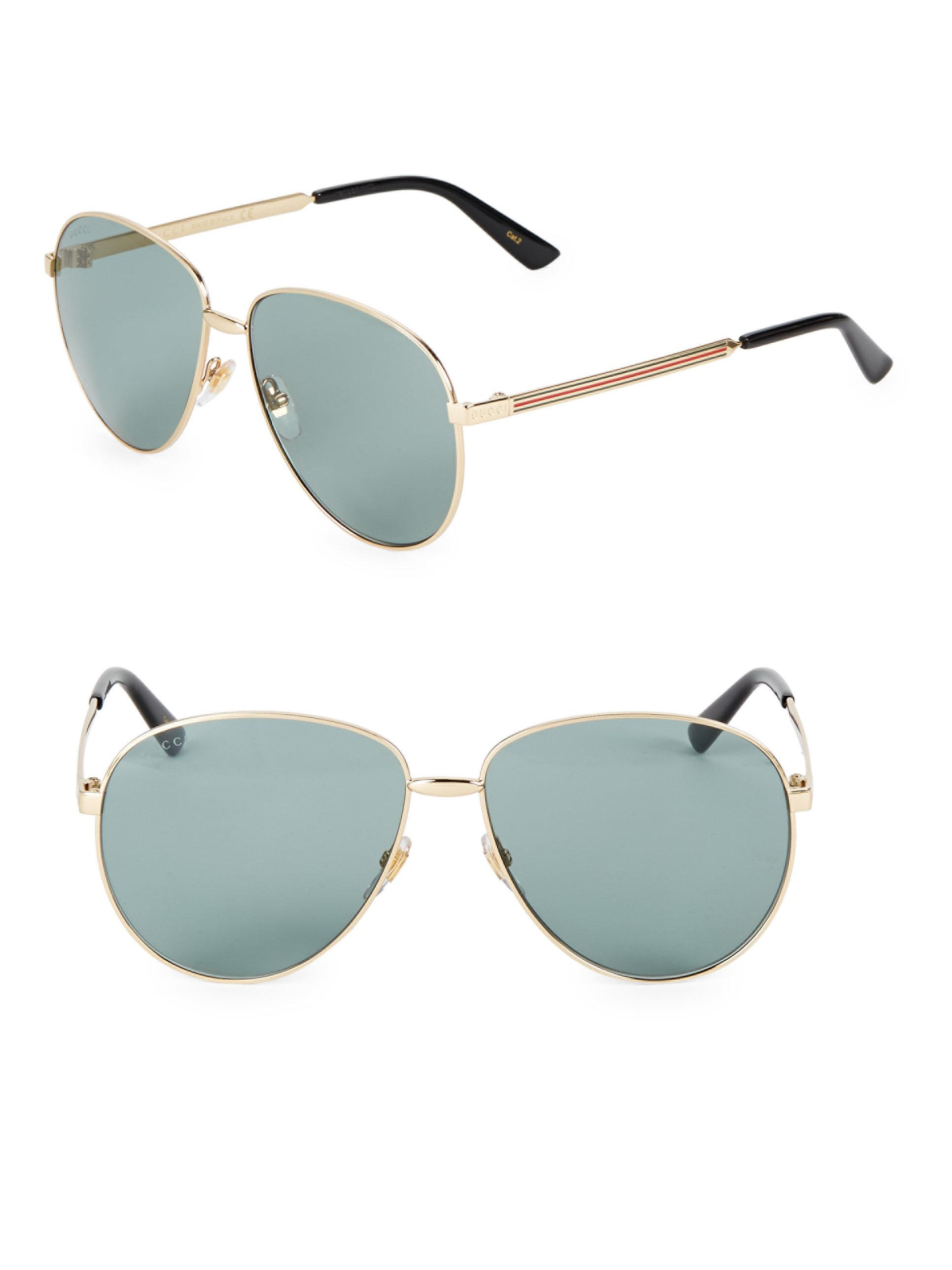 d9634ffc8c Gucci Women  39 s Aviator Sunglasses - Gold in Metallic - Lyst