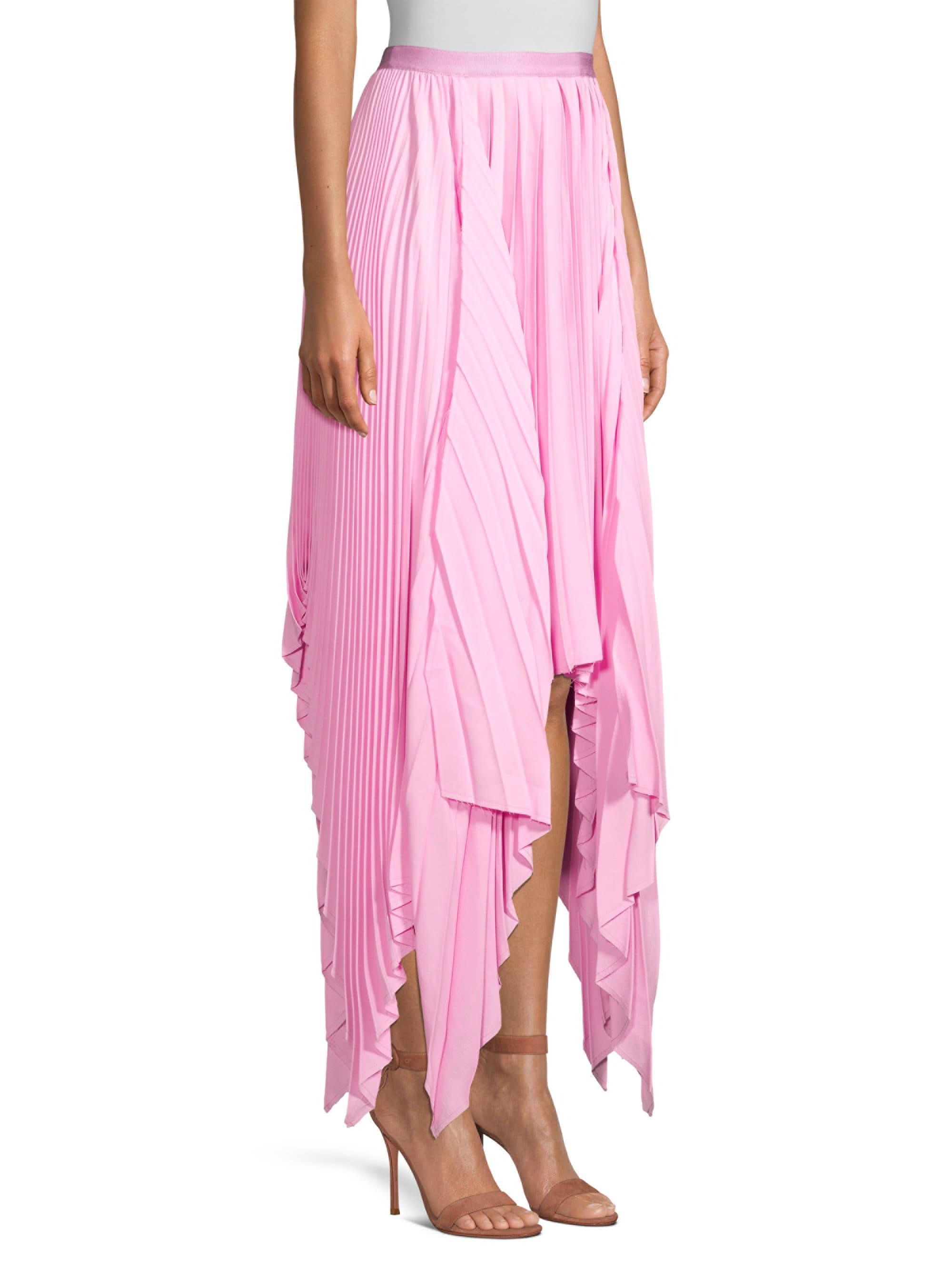 Pleated Handkerchief Hem Dress