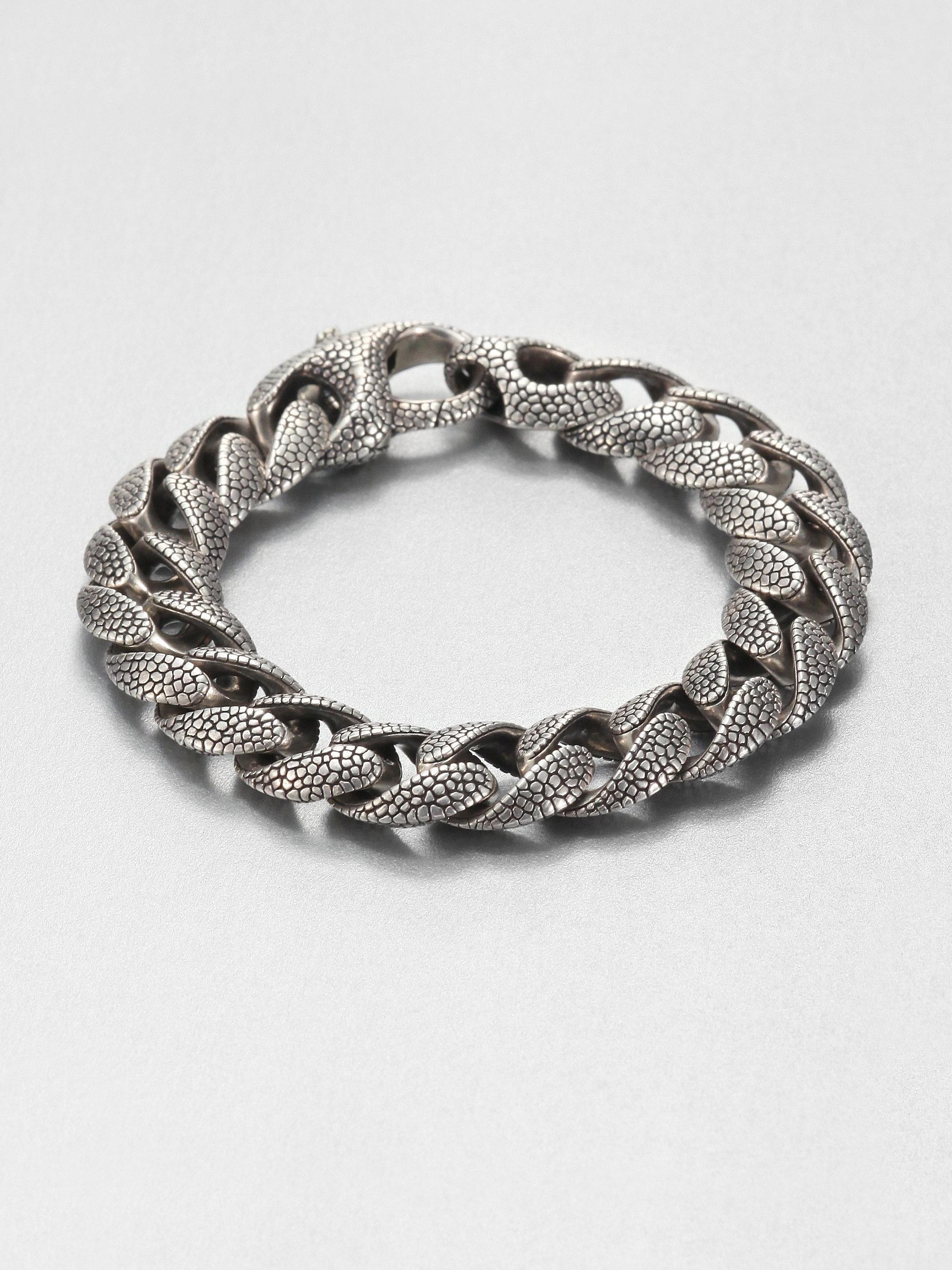 Stephen Webster Silver Rayskin Curb Link Bracelet In