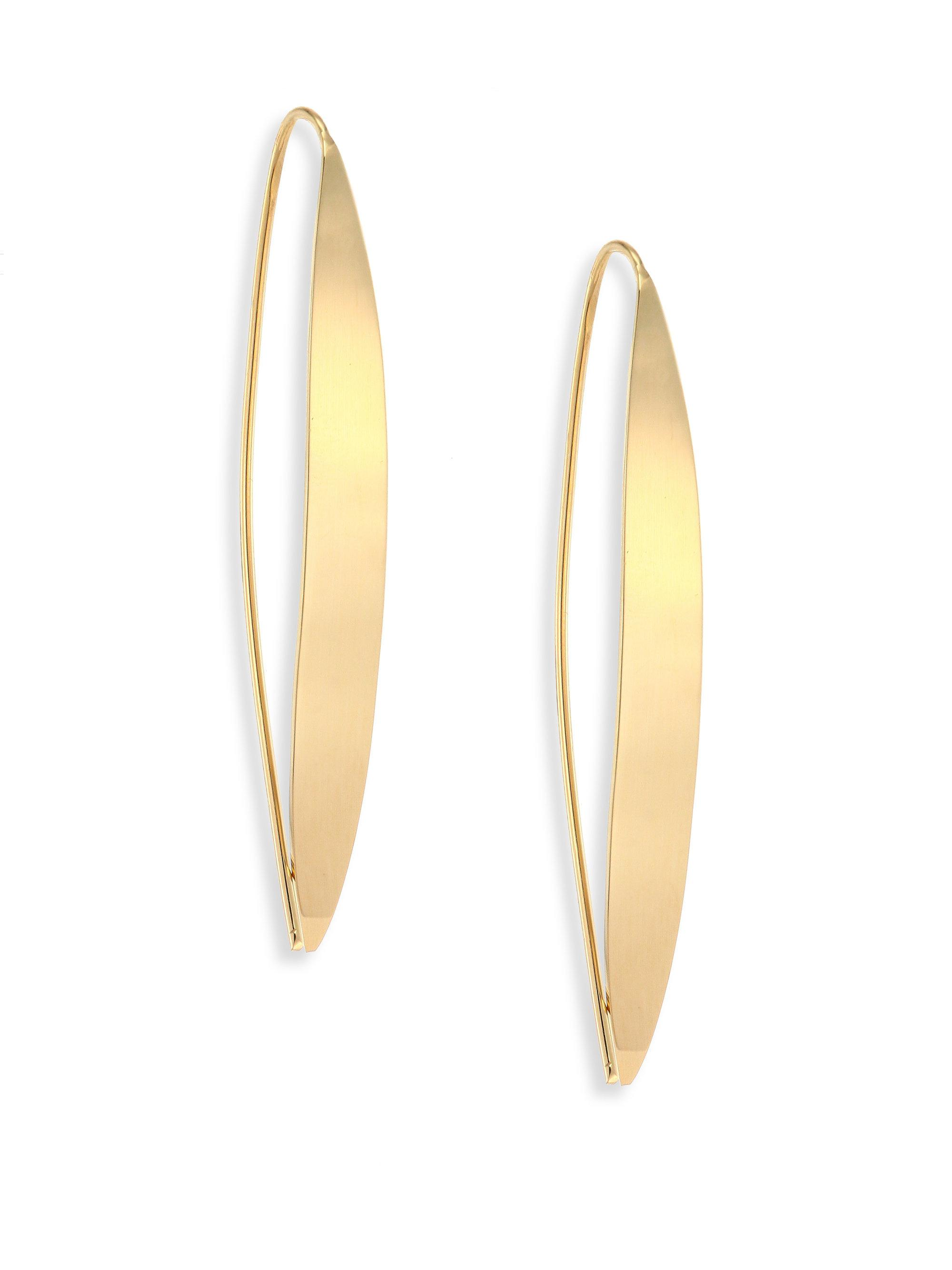 Lana Jewelry Small Gloss 14K Gold Hoop Earrings UKaAeX