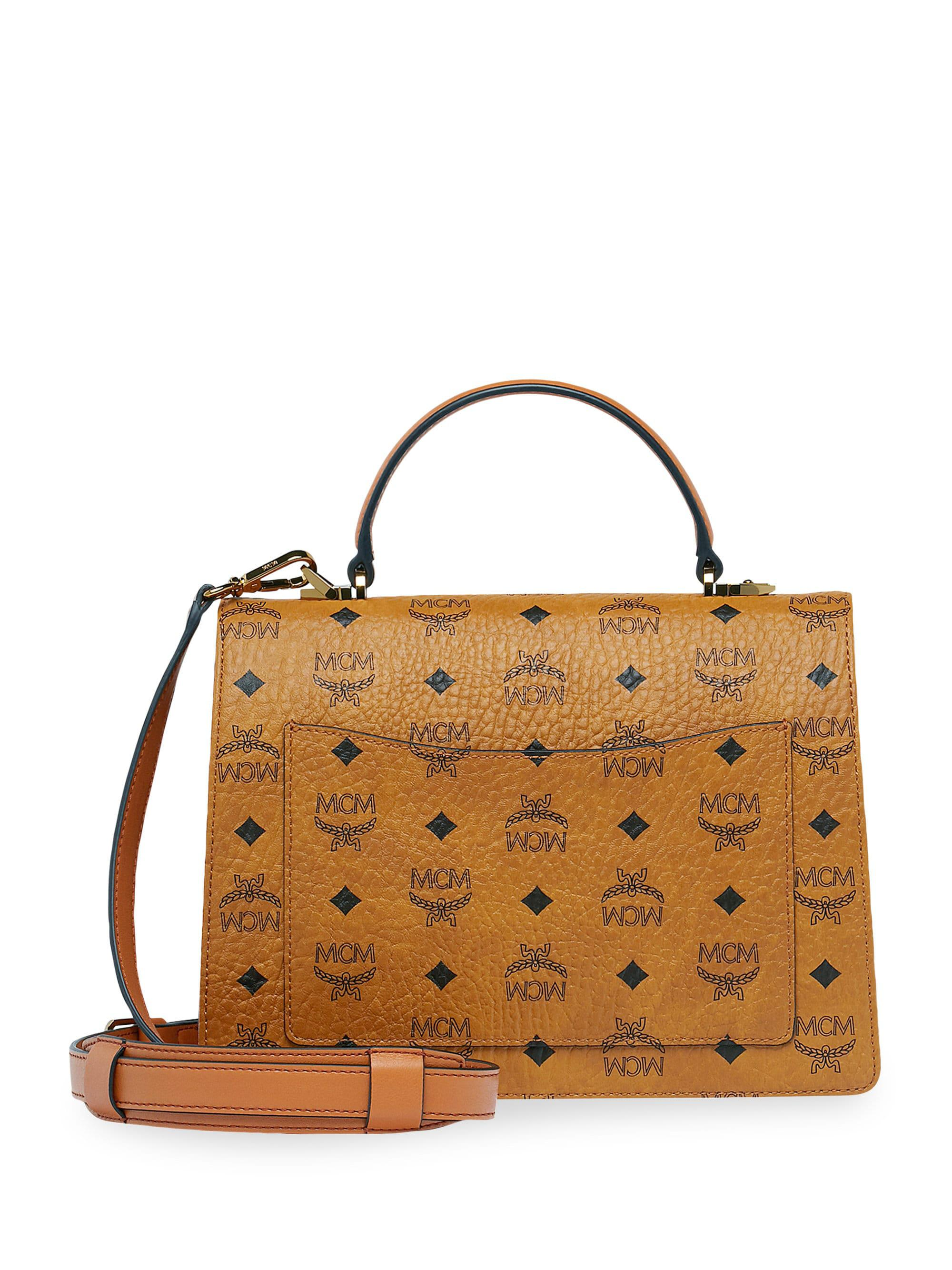 a359383a22be Mcm Patricia Medium Visetos Satchel in Brown - Save 3.708281829419036% -  Lyst