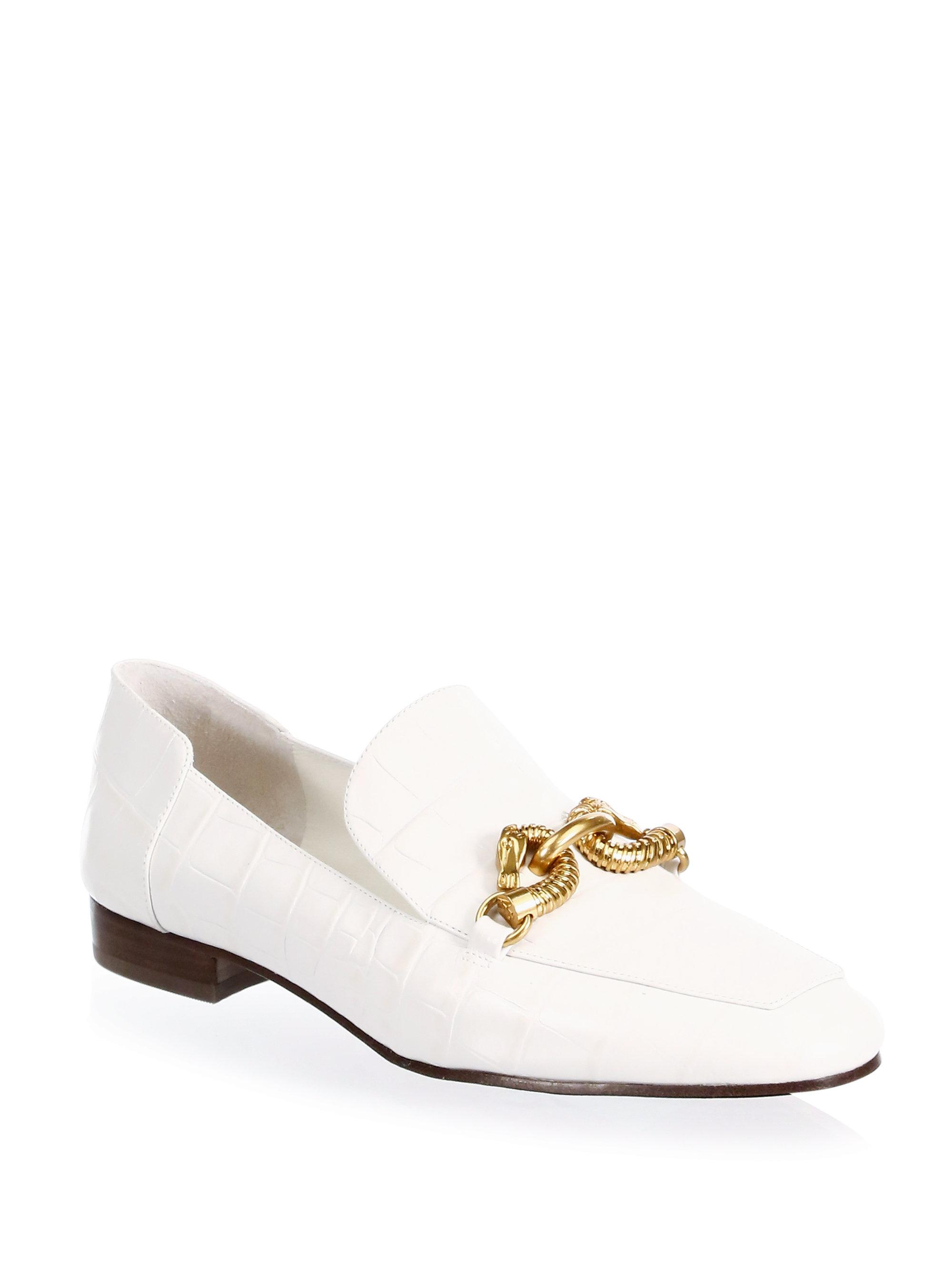 6cba716e7 Lyst - Tory Burch Jessa Leather Loafers in White