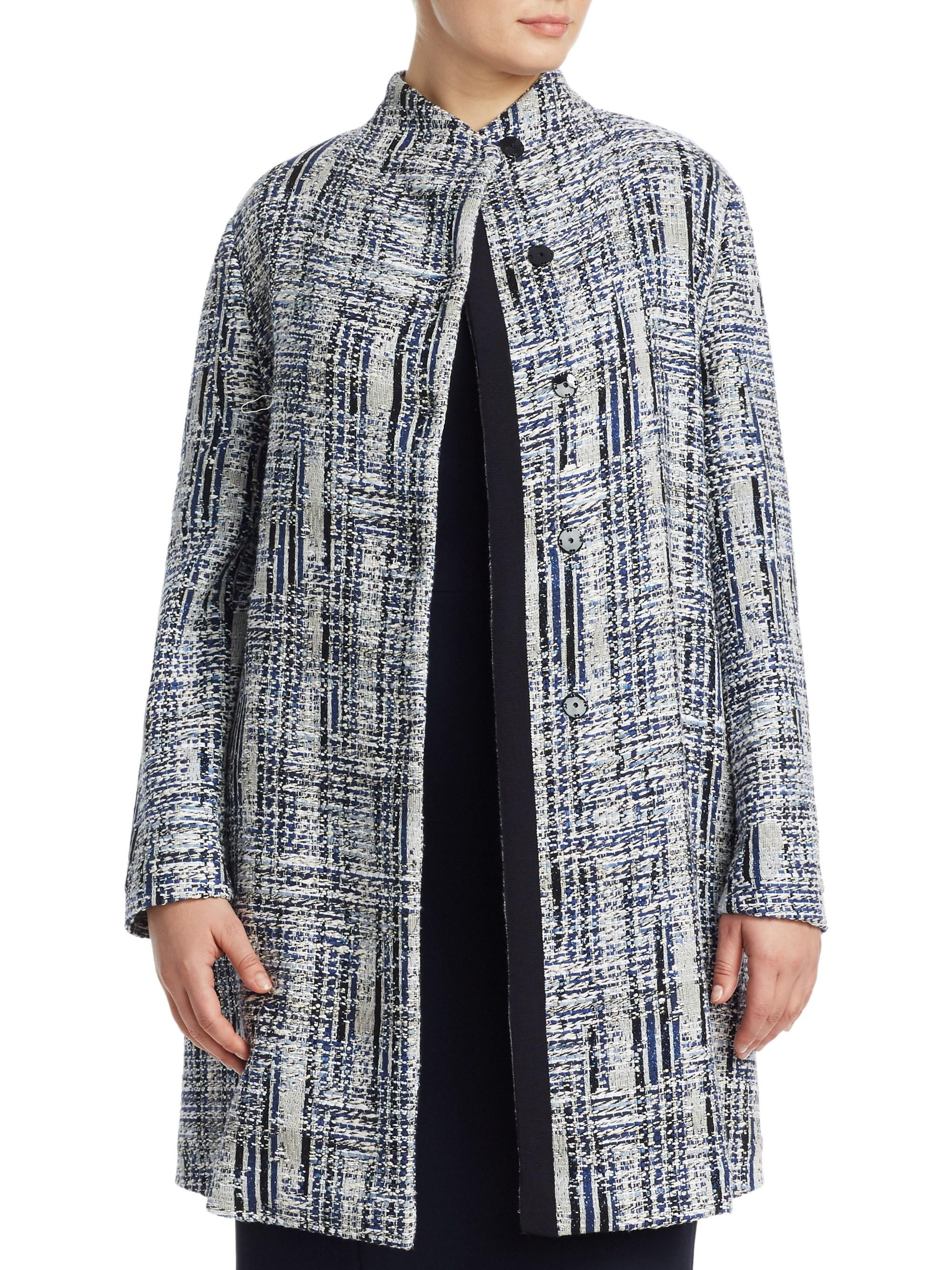 e356858d099c Lyst - Marina Rinaldi , Plus Size Women's Jacquard Wool-blend Coat ...