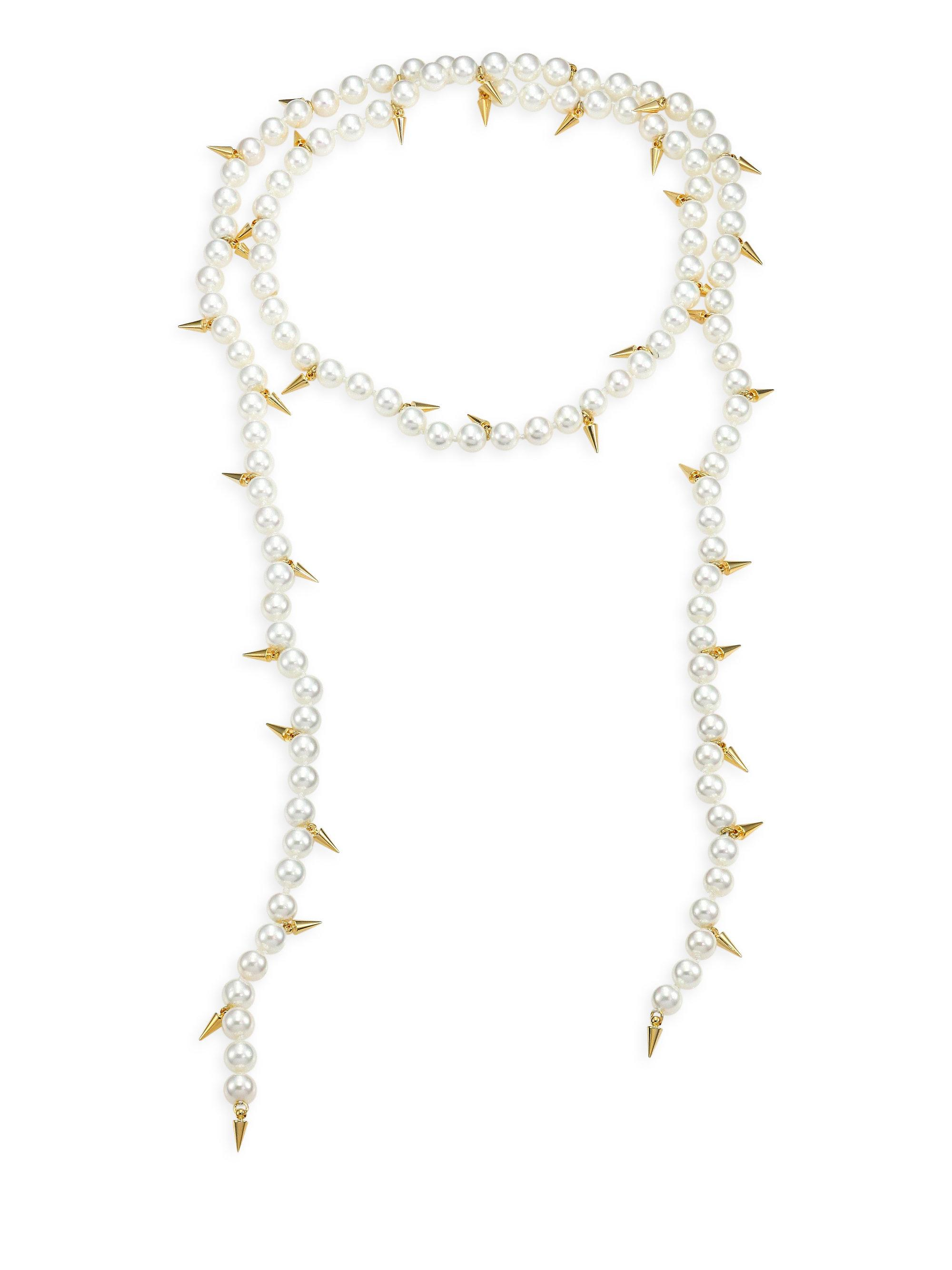 Fallon Linda Spike Lariat Necklace