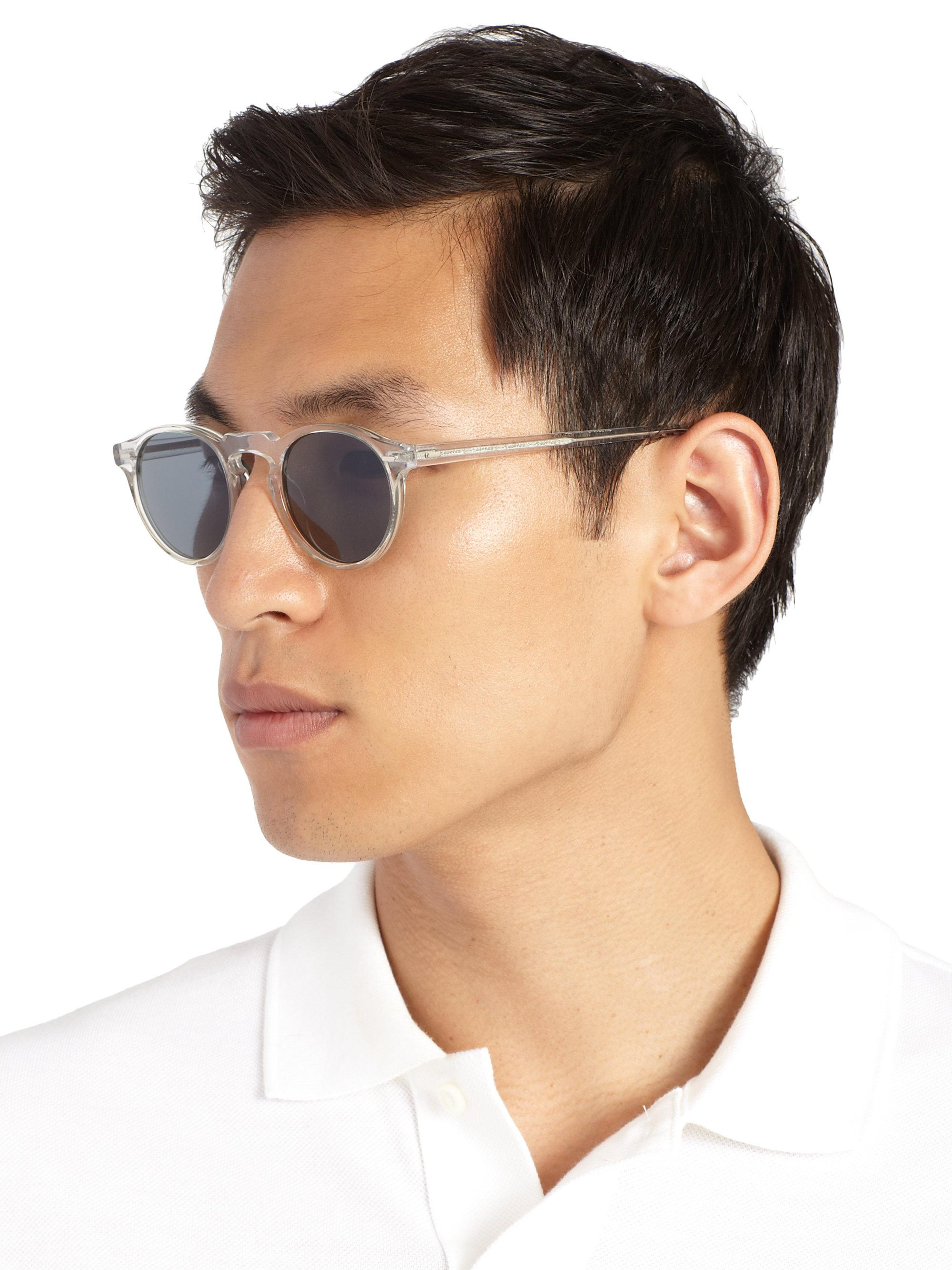 19a2040b138 Oliver Peoples Gregory Peck 47mm Acetate Sunglasses in Gray for Men ...