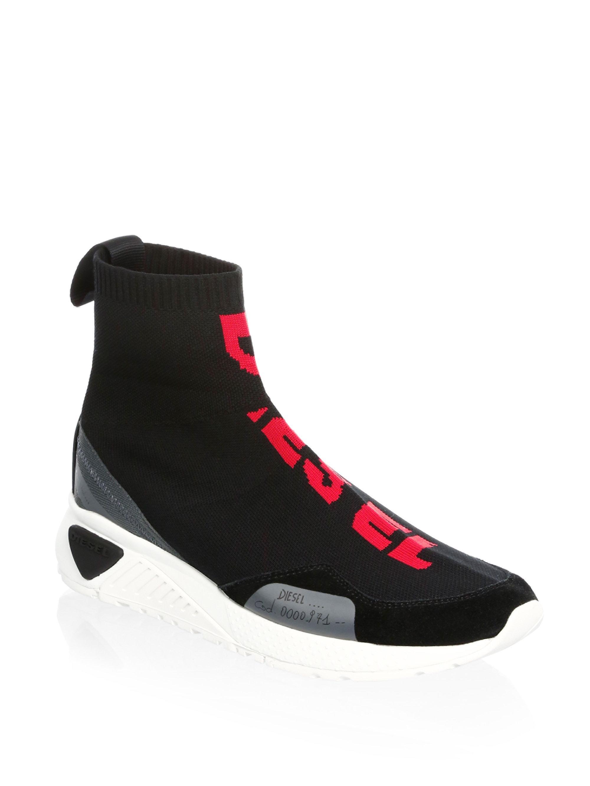 DIESEL Rubber Mid Sock Sneakers in