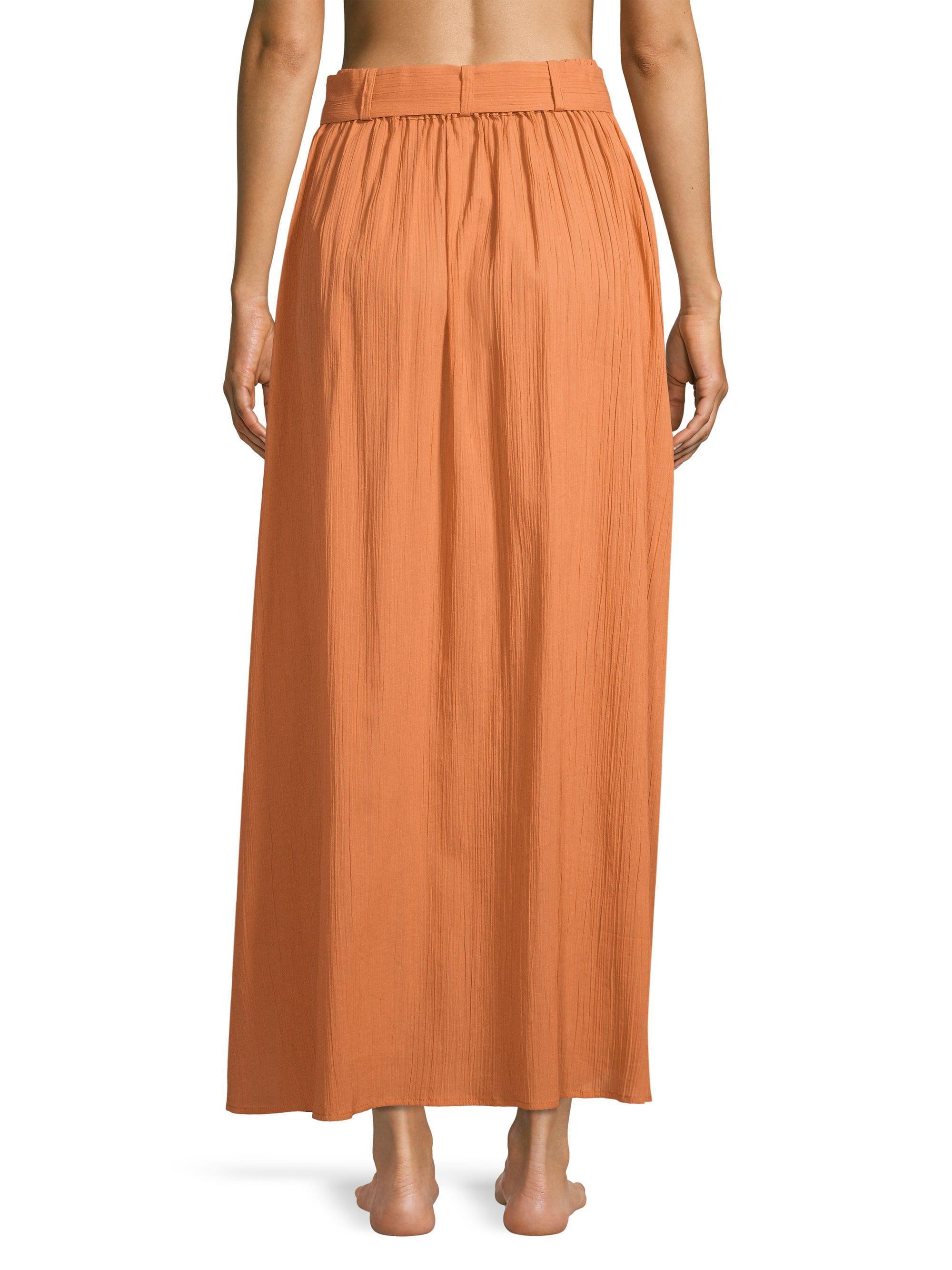 53523858d7 Lisa Marie Fernandez - Orange Belted Cotton-gauze Maxi Skirt - Lyst. View  fullscreen
