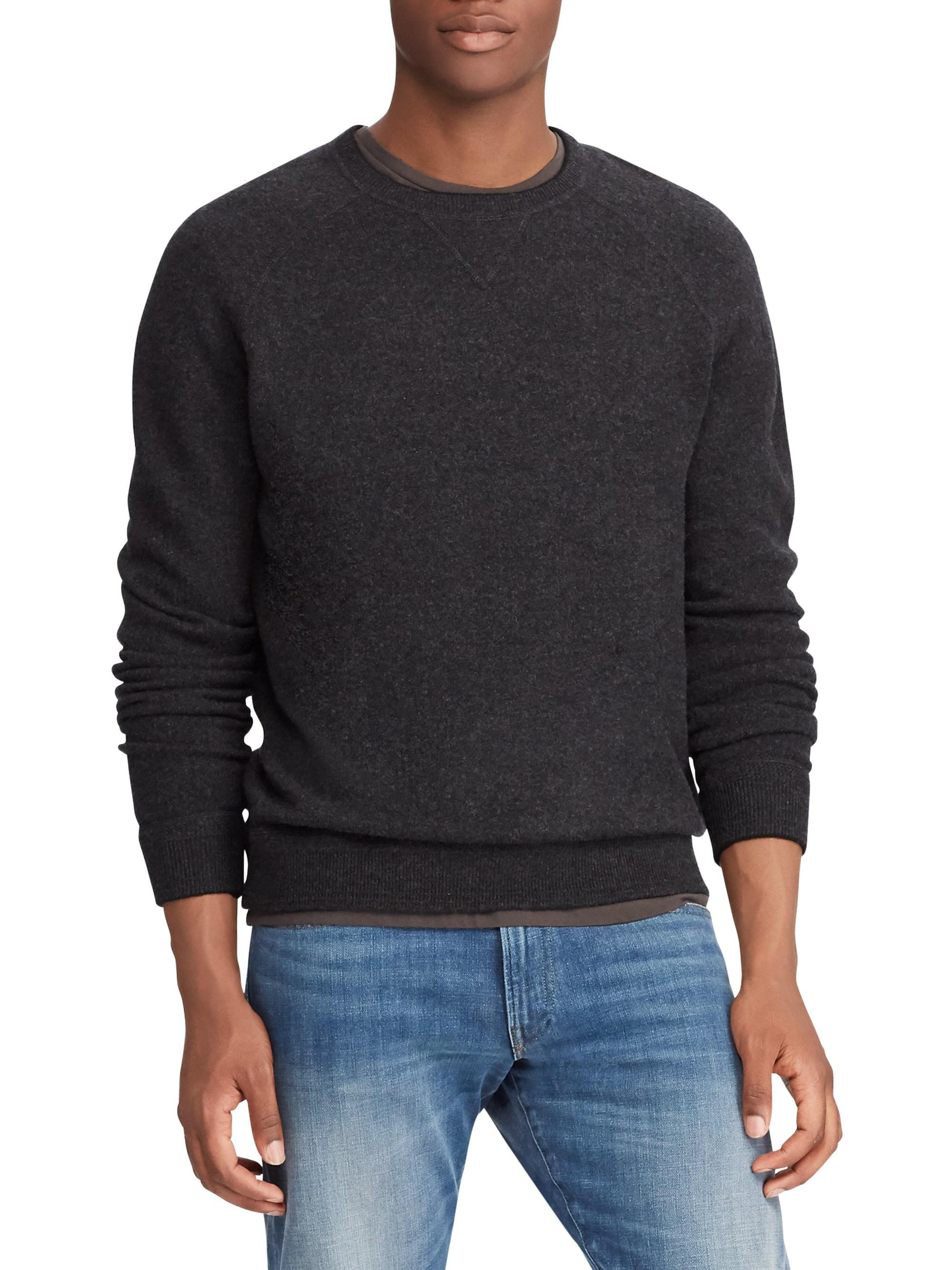 e2f4c8e7996 Polo Ralph Lauren. Men s Black Loryelle Classic-fit Wool Long-sleeve  Sweatshirt