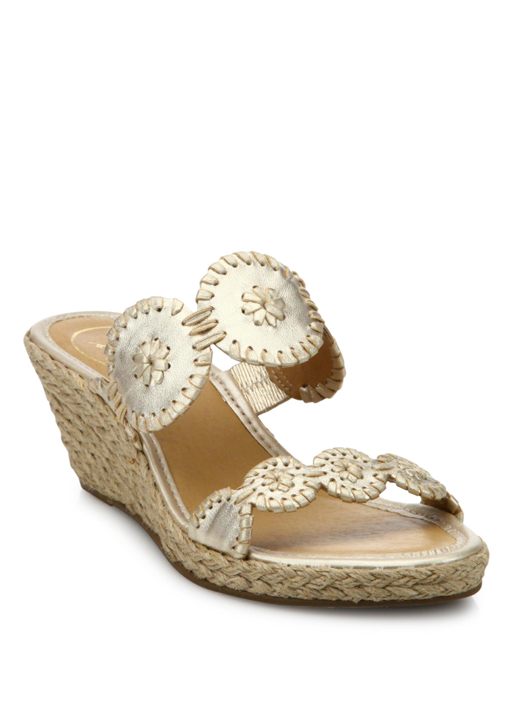 Jack Rogers Shelby Whipstitched Leather Sandals uDDjVLAWoq