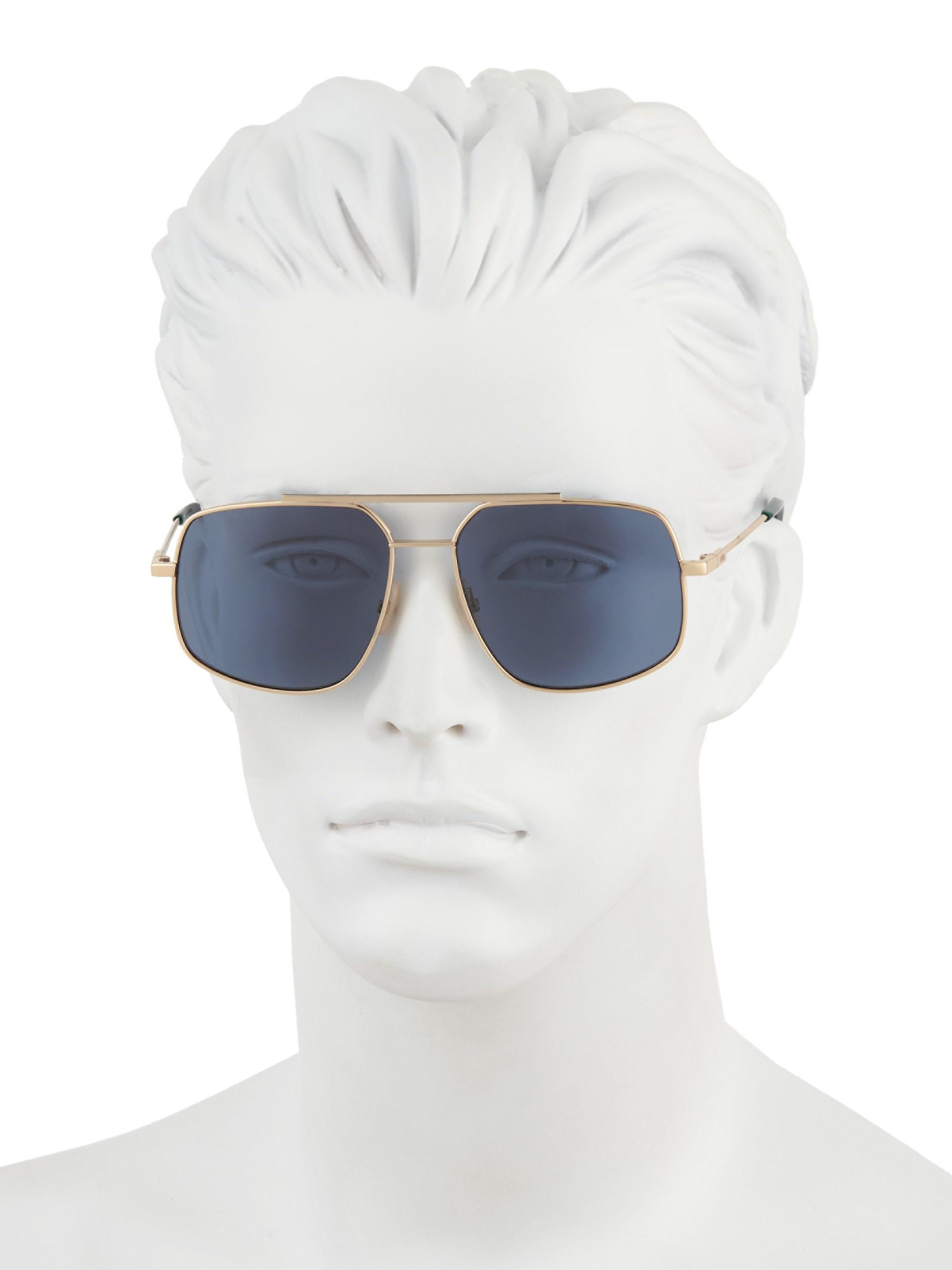 53860f4eb694 Fendi - Women s 58mm Square Sunglasses - Blue - Lyst. View fullscreen