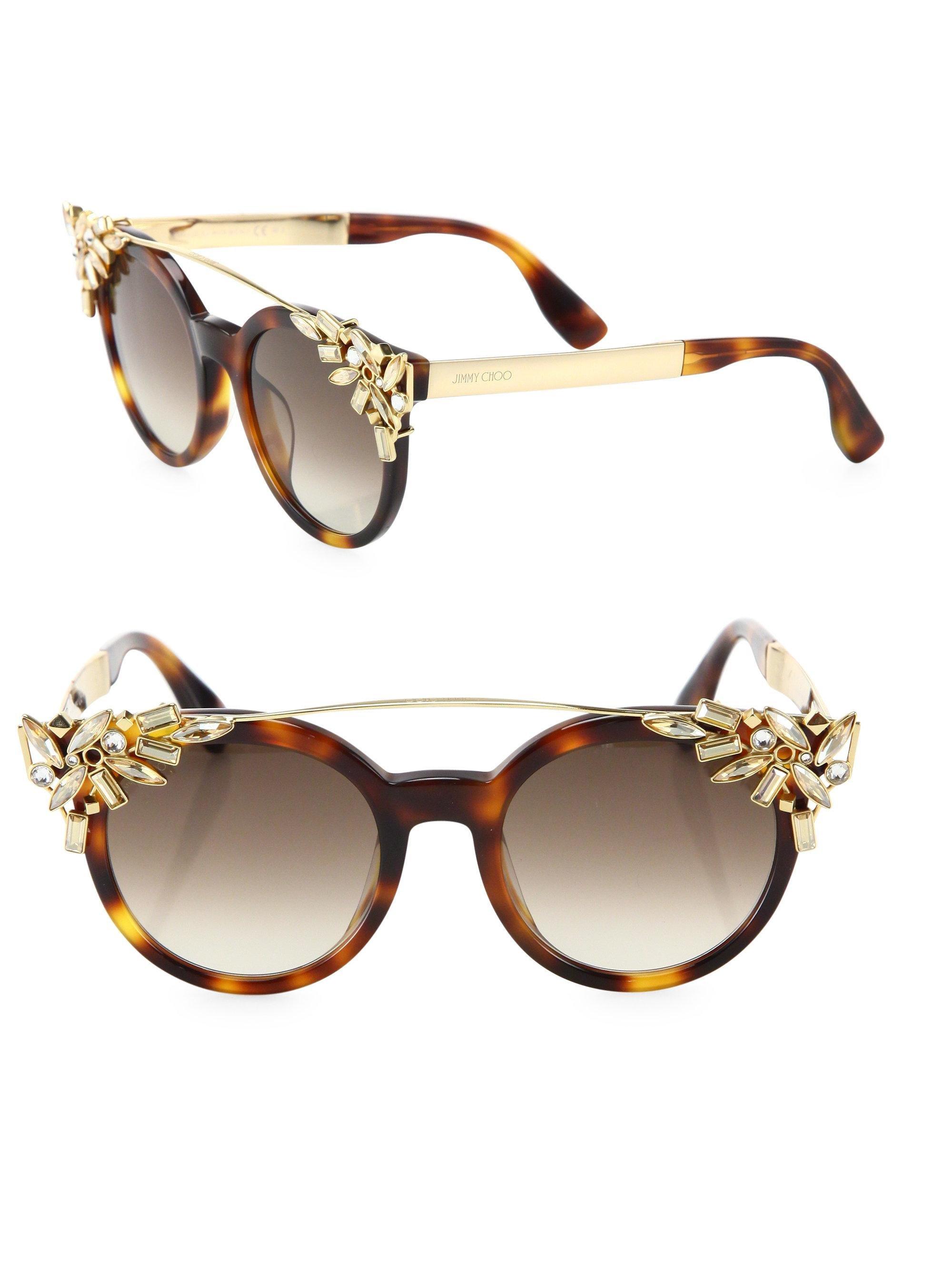 Embellished Cat-eye Acetate Sunglasses - Blue Jimmy Choo London IudVb