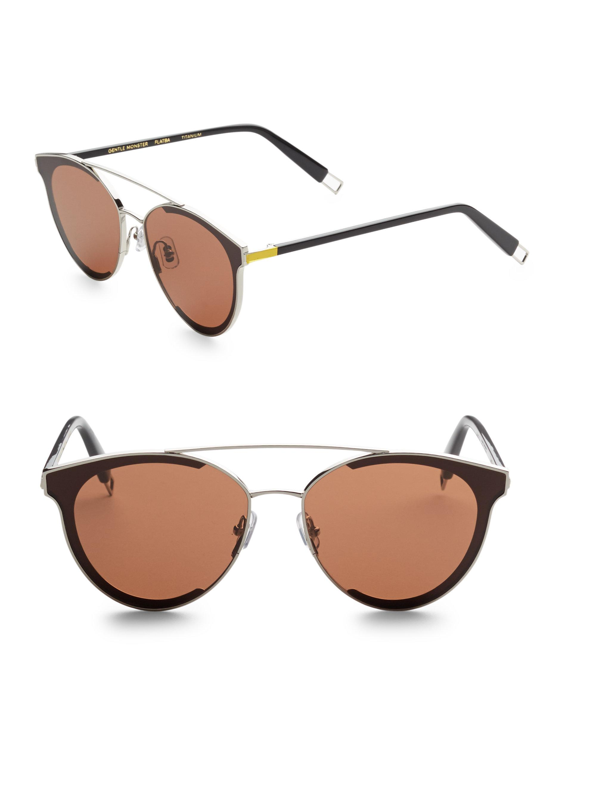 844802a8ba6b Lyst - Gentle Monster Last Bow Aviator Sunglasses in Brown for Men