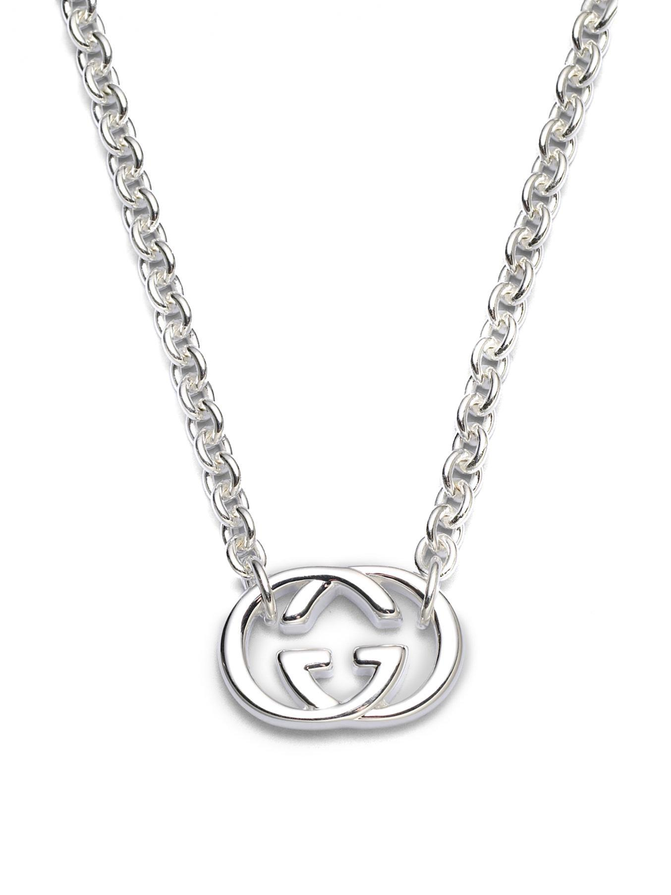 90d357d8aa Gucci Metallic Double G Sterling Silver Necklace
