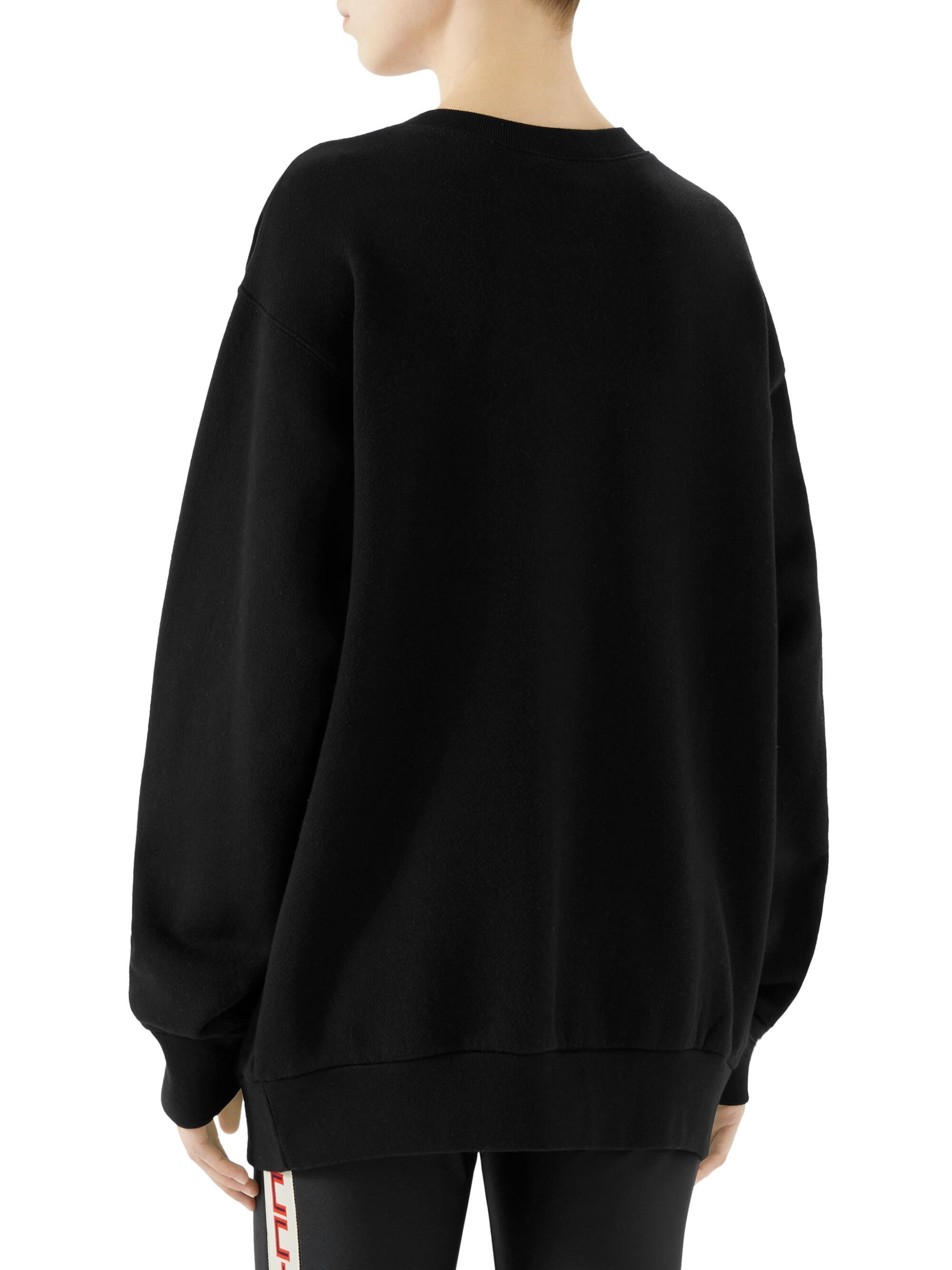 Women Ladies Sequin Tiger Face Multi Sequin Sleeve Oversized Sweatshirt Jumper