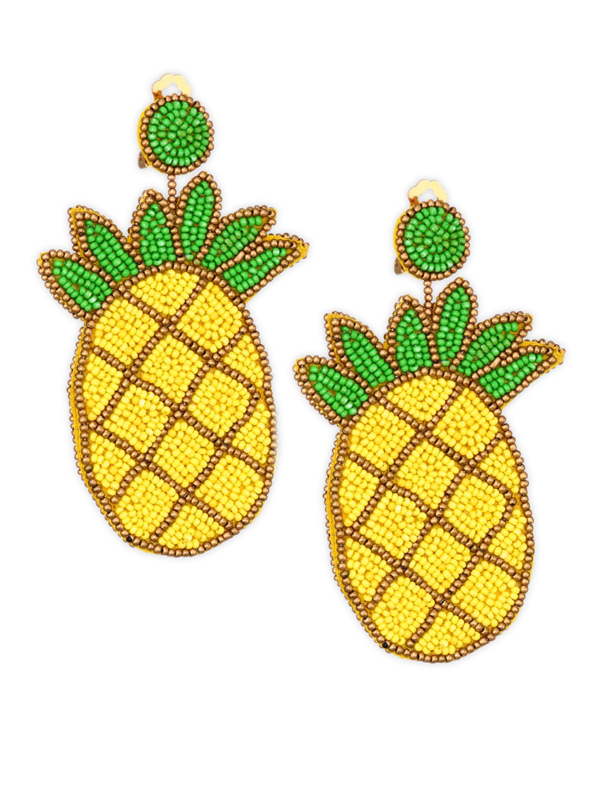 Kenneth Jay Lane Watermelon Seed Bead Earrings PtNXcSp