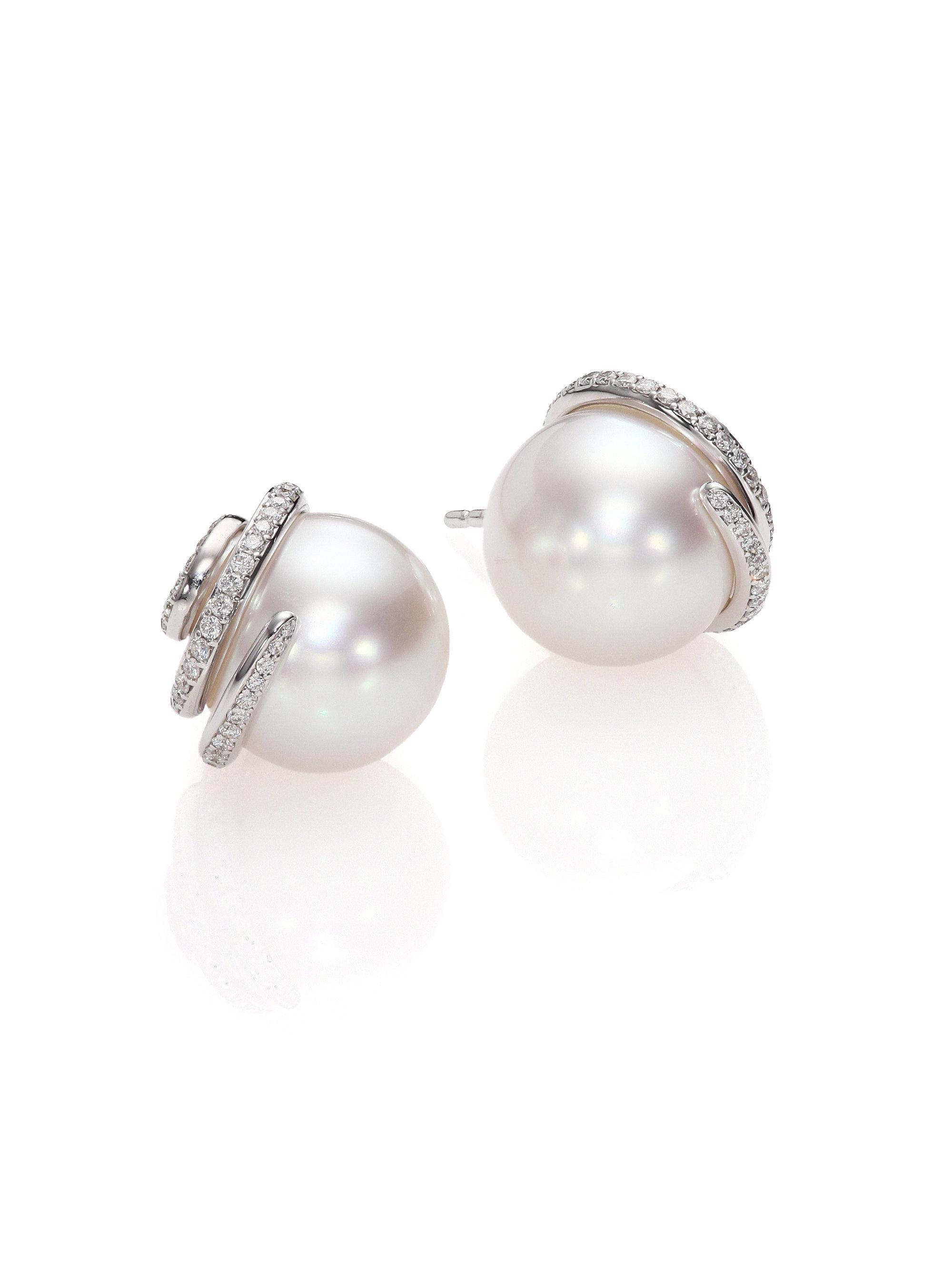 quality aaa earrings stud products silver whitestudswatch freshwater set jewellery in premium collections black pearl white