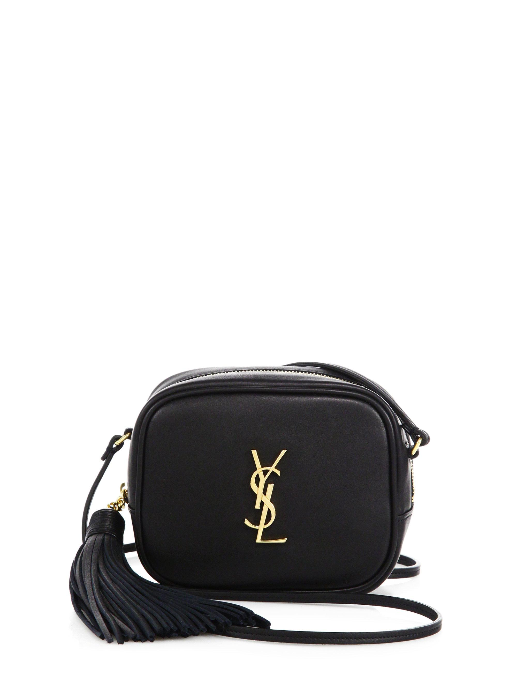 0db2b852d5 Lyst - Saint Laurent Leather Monogram Blogger Bag in Black