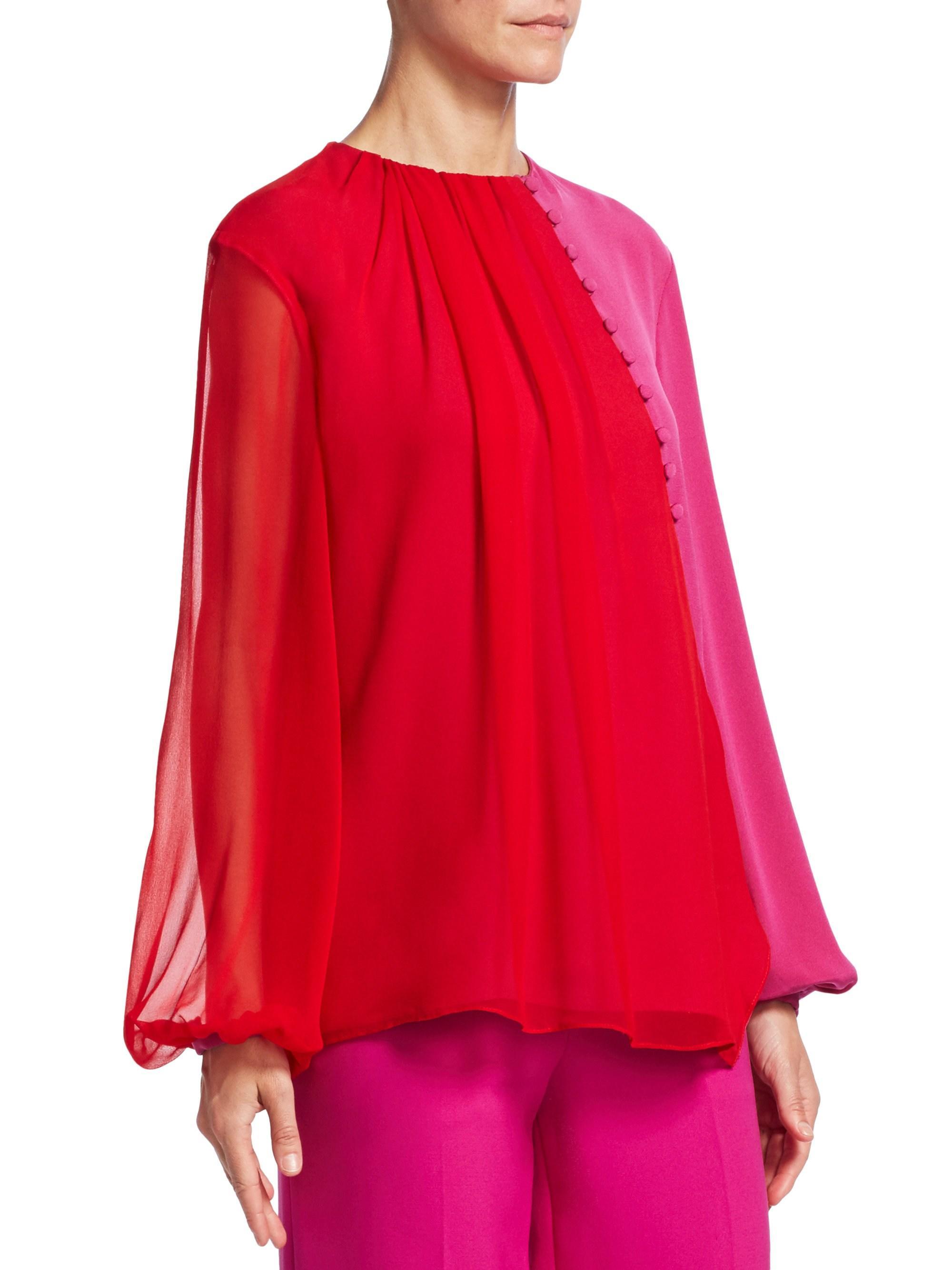 48e30df78da7 prabal-gurung-red-raspberry-Womens-Colorblock-Chiffon-Blouse-Red -Raspberry-Size-2.jpeg
