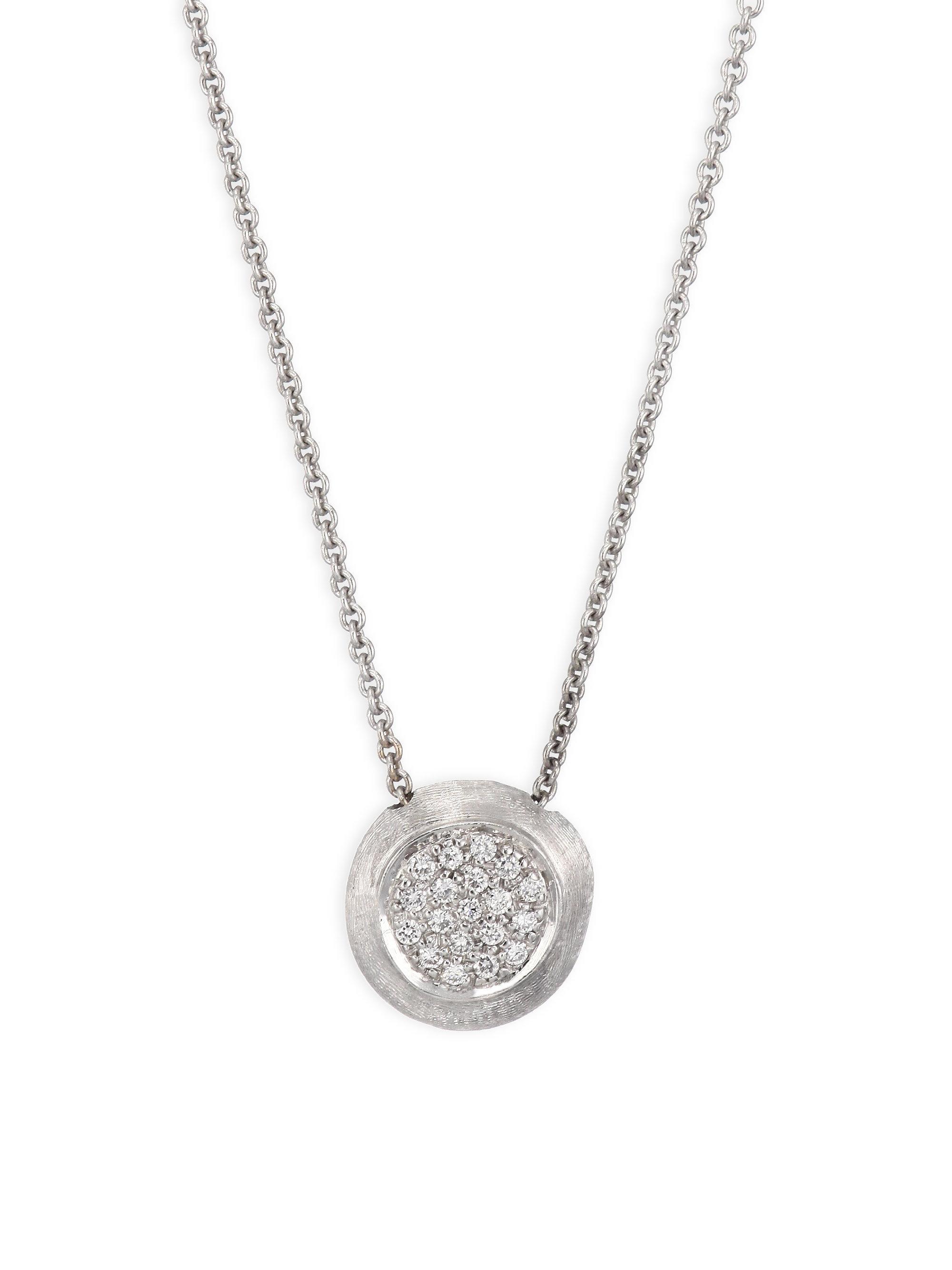 Marco Bicego 18k Delicati Round Diamond Pavé Pendant Necklace JeZdrBazgb
