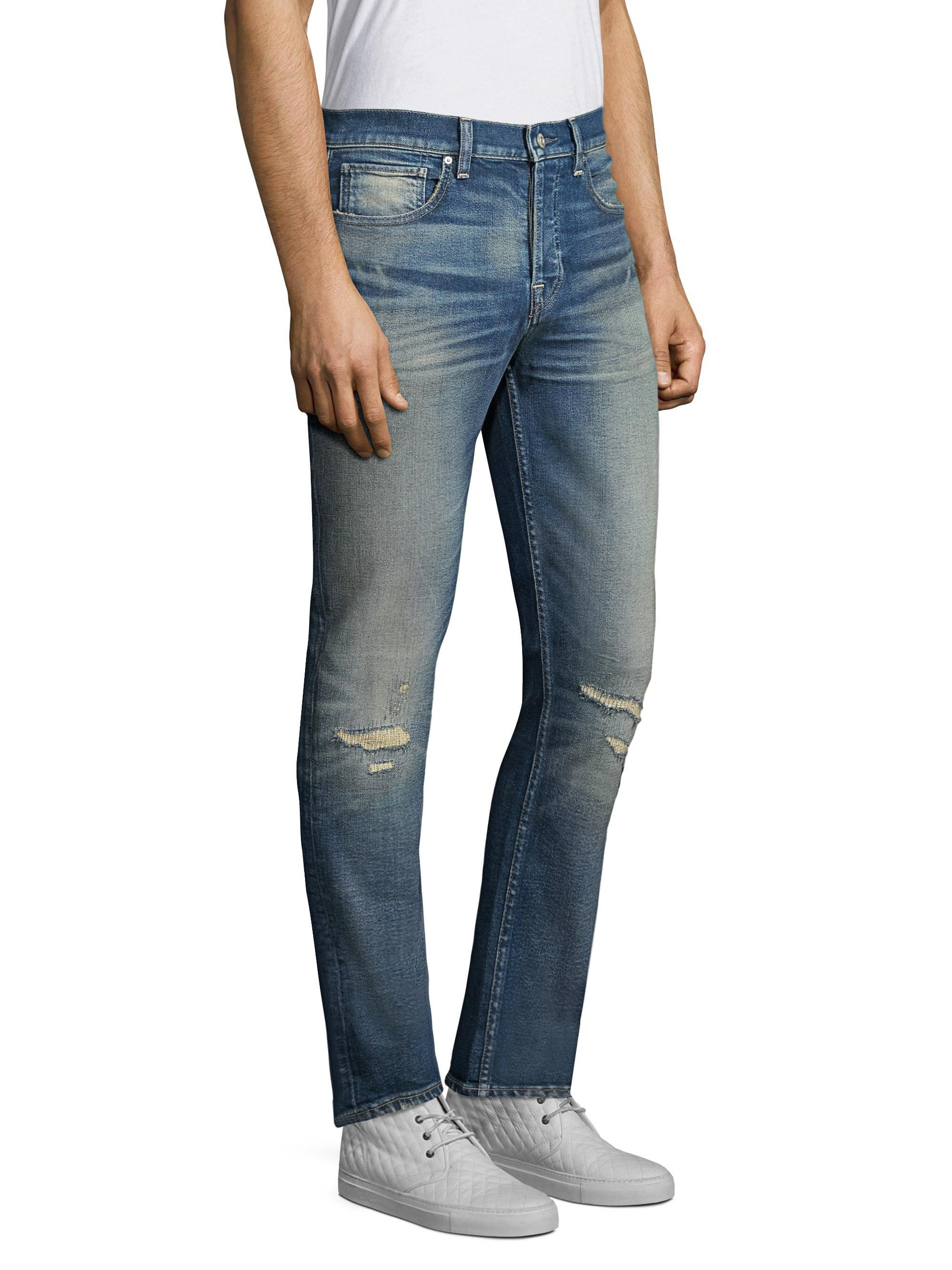 f4d77c8a410 Lyst - Hudson Jeans Men's Axl Skinny Mended Jeans - Mended in Blue ...
