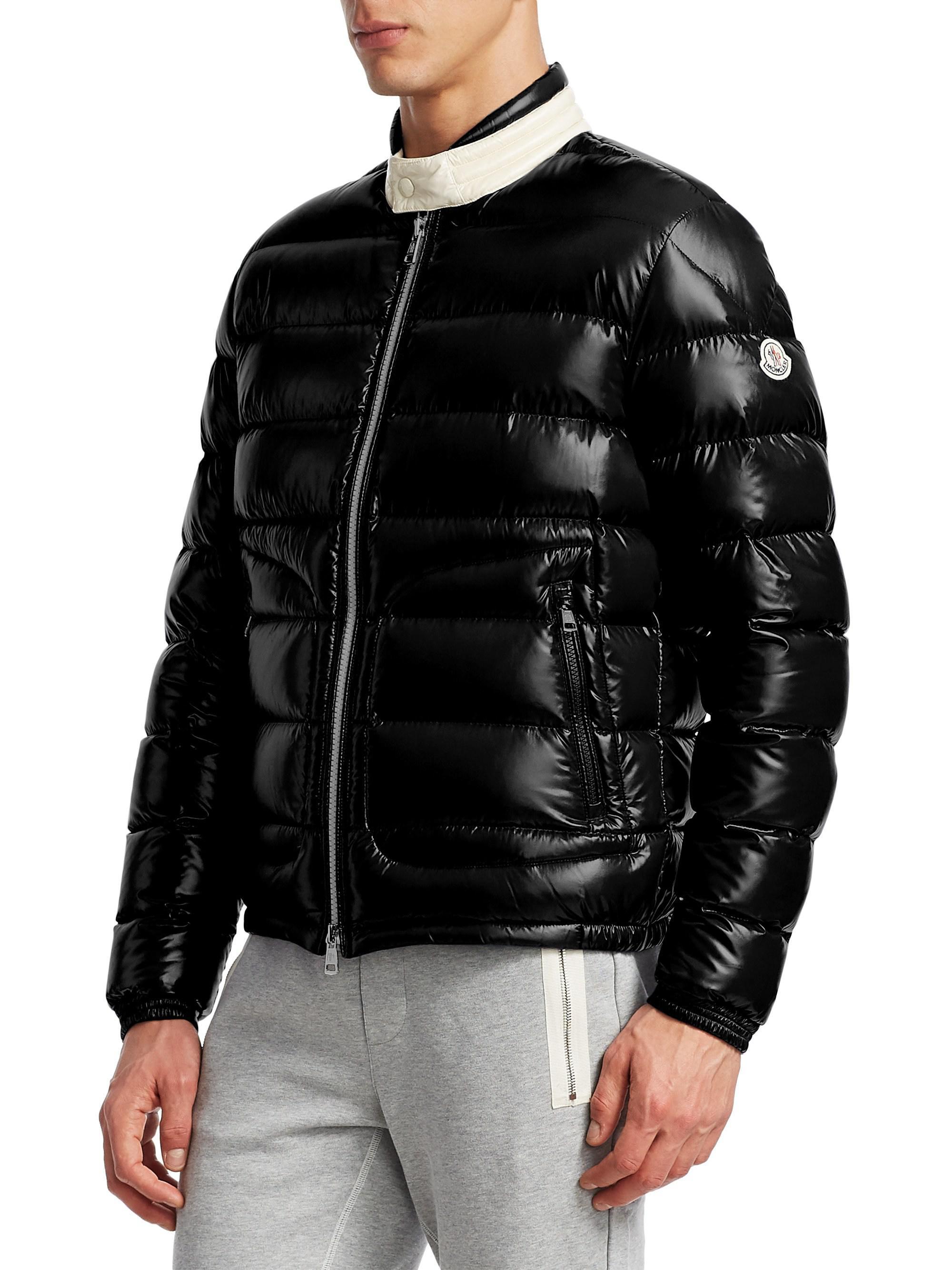 5af947aeb Moncler Black Aubert Puffer Jacket for men