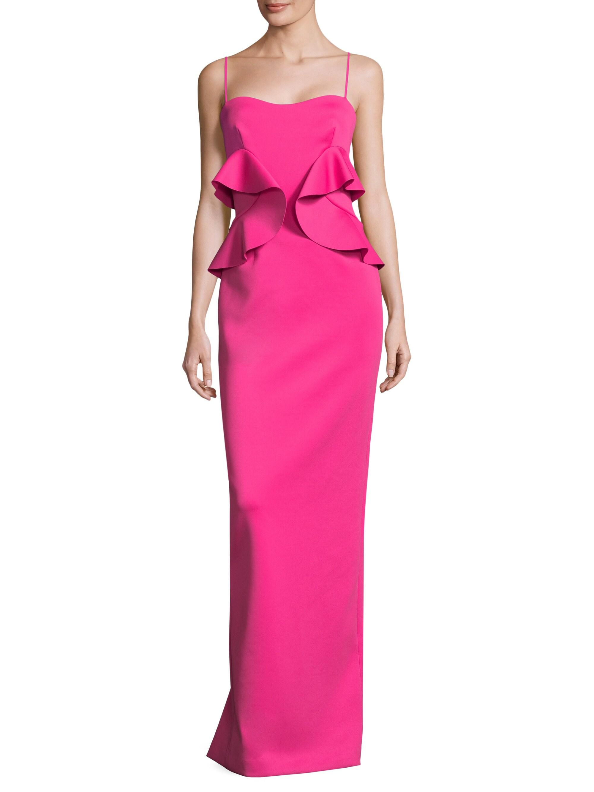 51772944 Black Halo Delray Floor-length Gown in Pink - Lyst