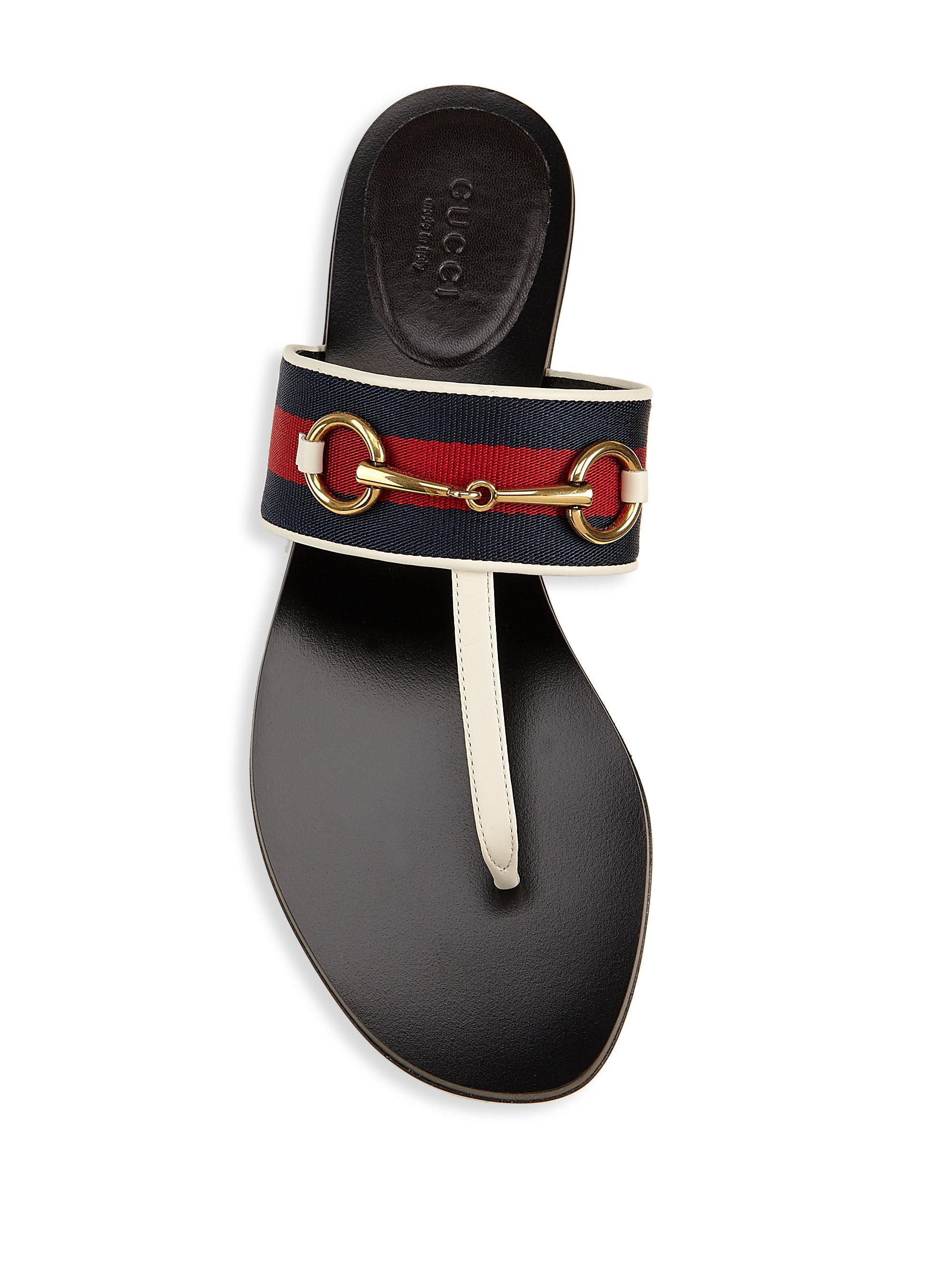 6fb0e1852b69 Lyst - Gucci Querelle Web Thong Sandals