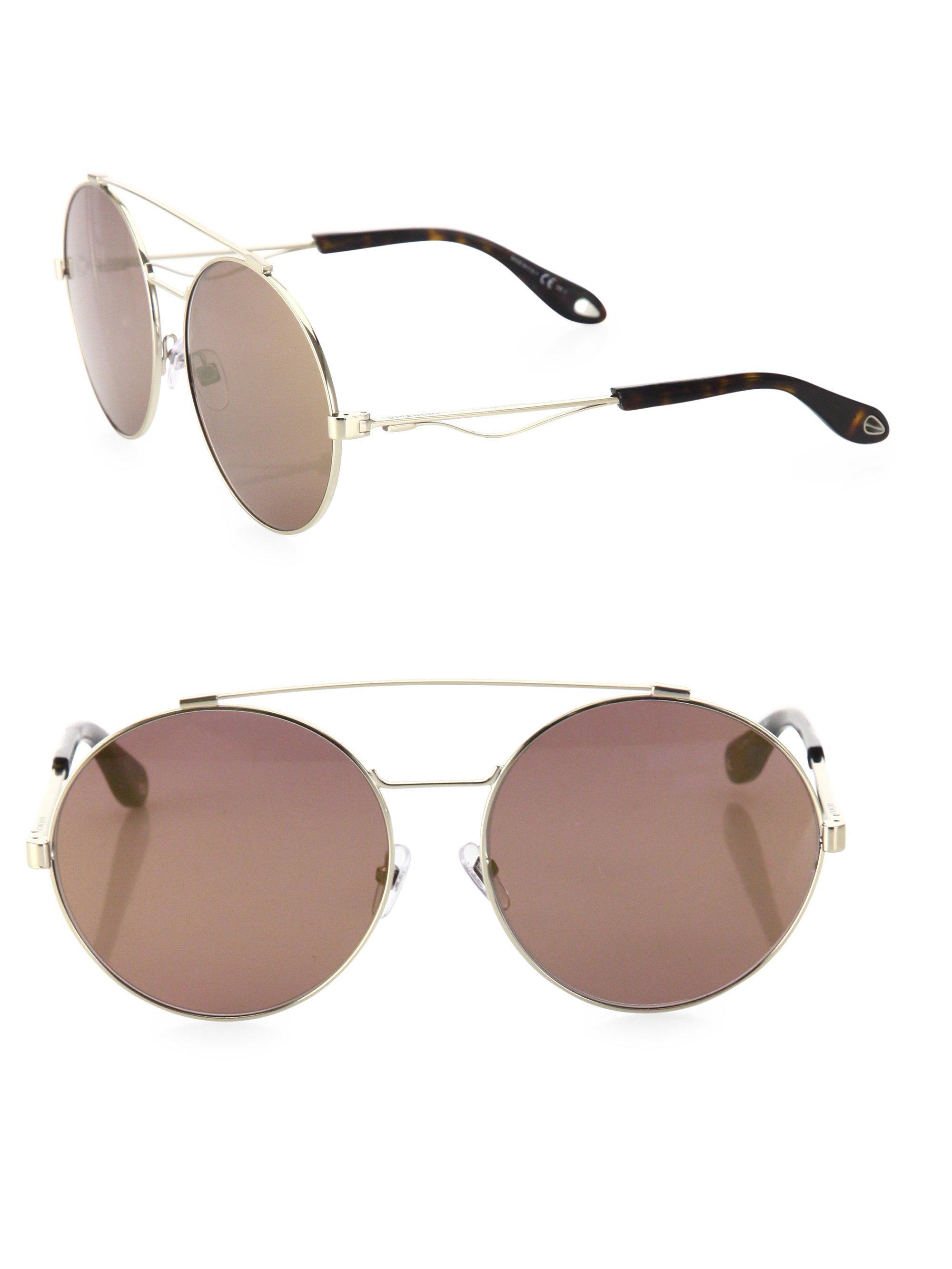 c38e480da3 Givenchy Women s 53mm Round Double-bridge Sunglasses - Light Gold in ...