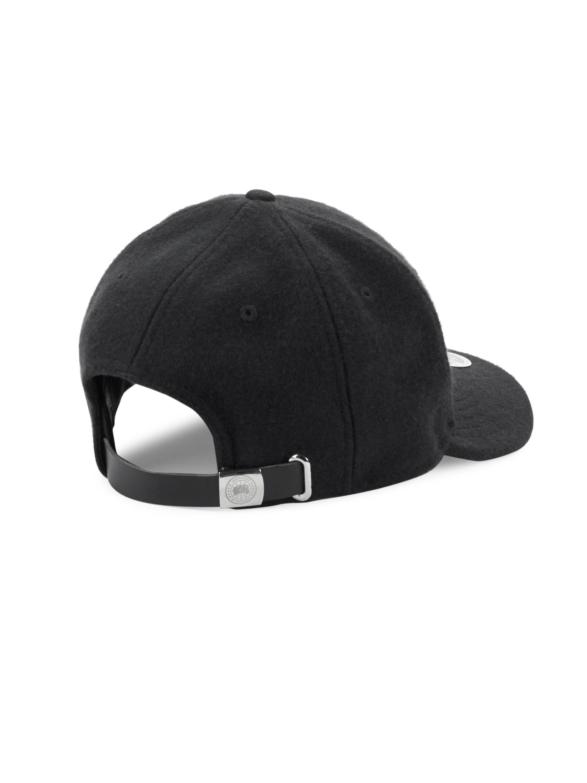 9cd24dbc9c7 Canada Goose - Black Melton Wool Baseball Hat for Men - Lyst. View  fullscreen