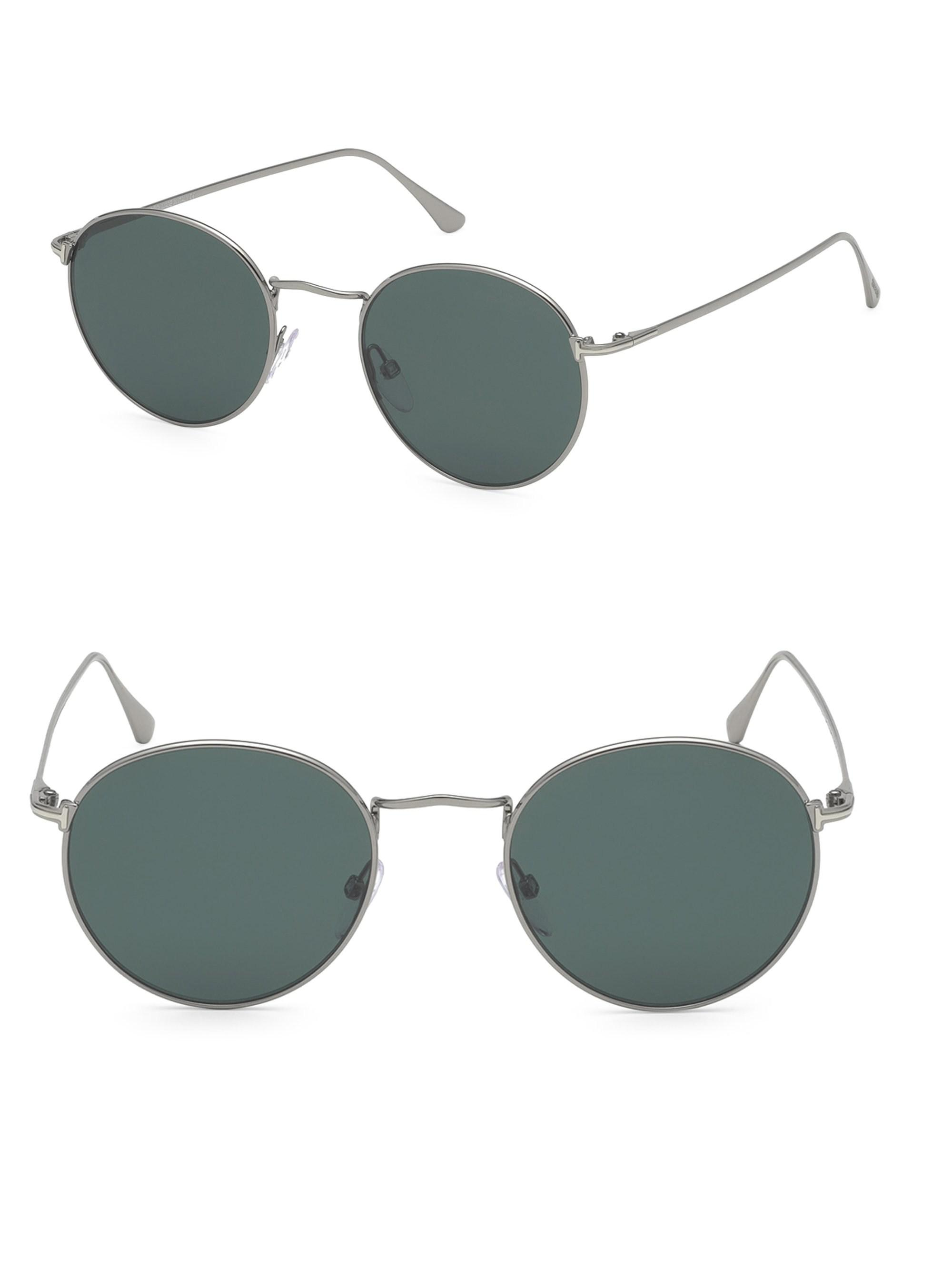 0ceb18941d6 Tom Ford 52mm Ryan Round Sunglasses in Gray for Men - Lyst