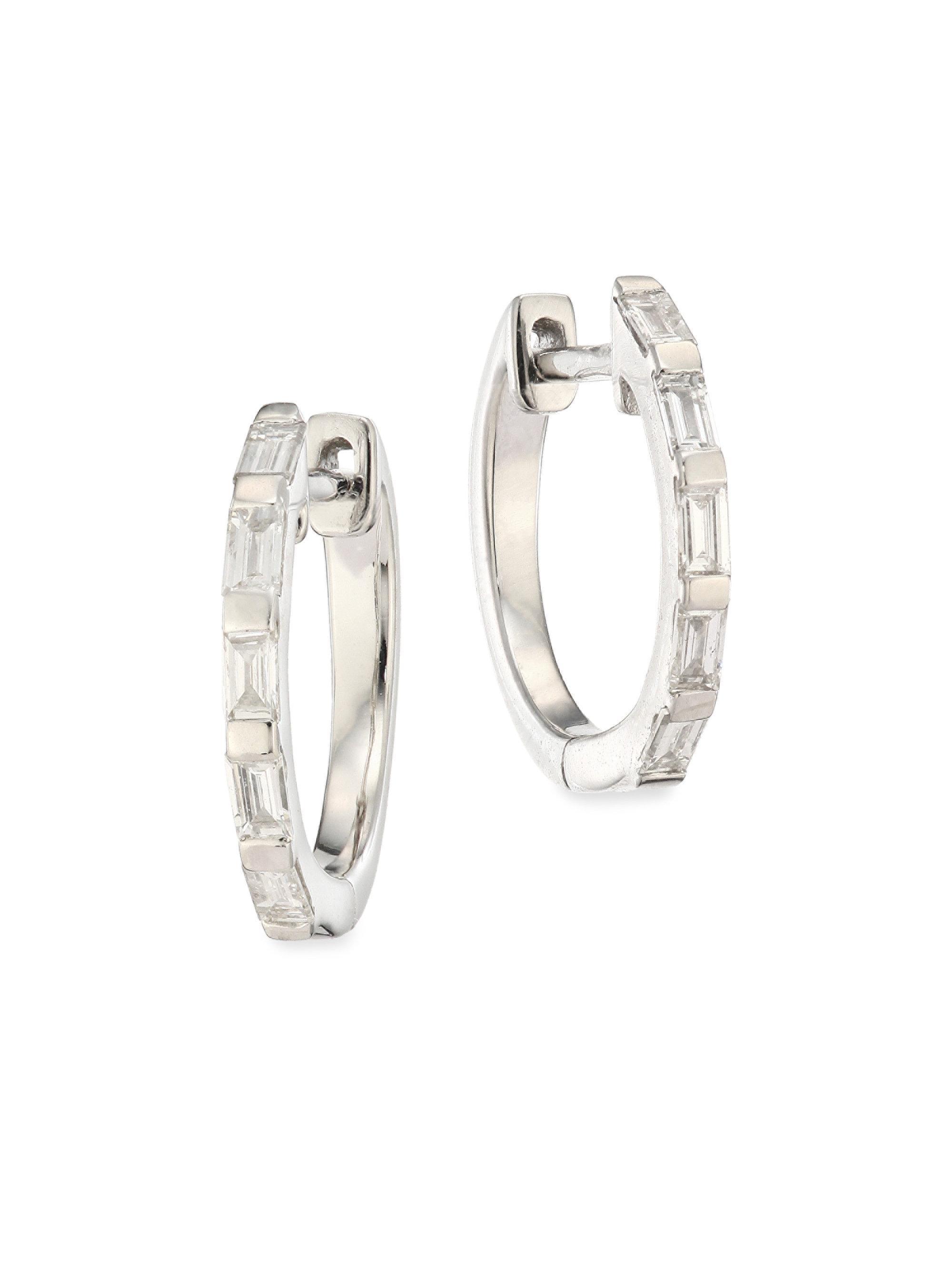 Shay 5 baguette diamond huggie earrings - Metallic UnvKEH