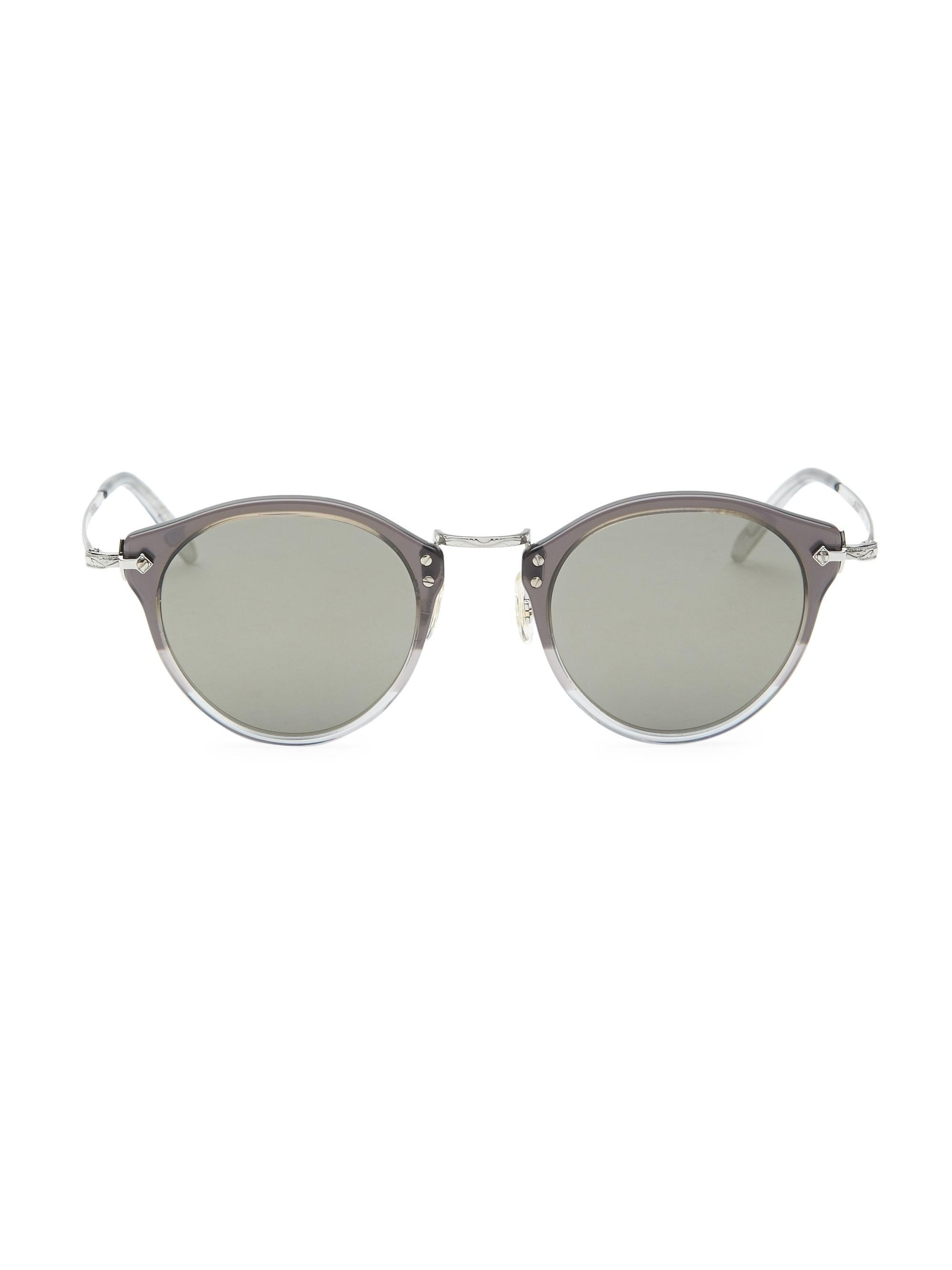 56acba3fa50 Oliver Peoples 49mm Round Sunglasses for Men - Lyst