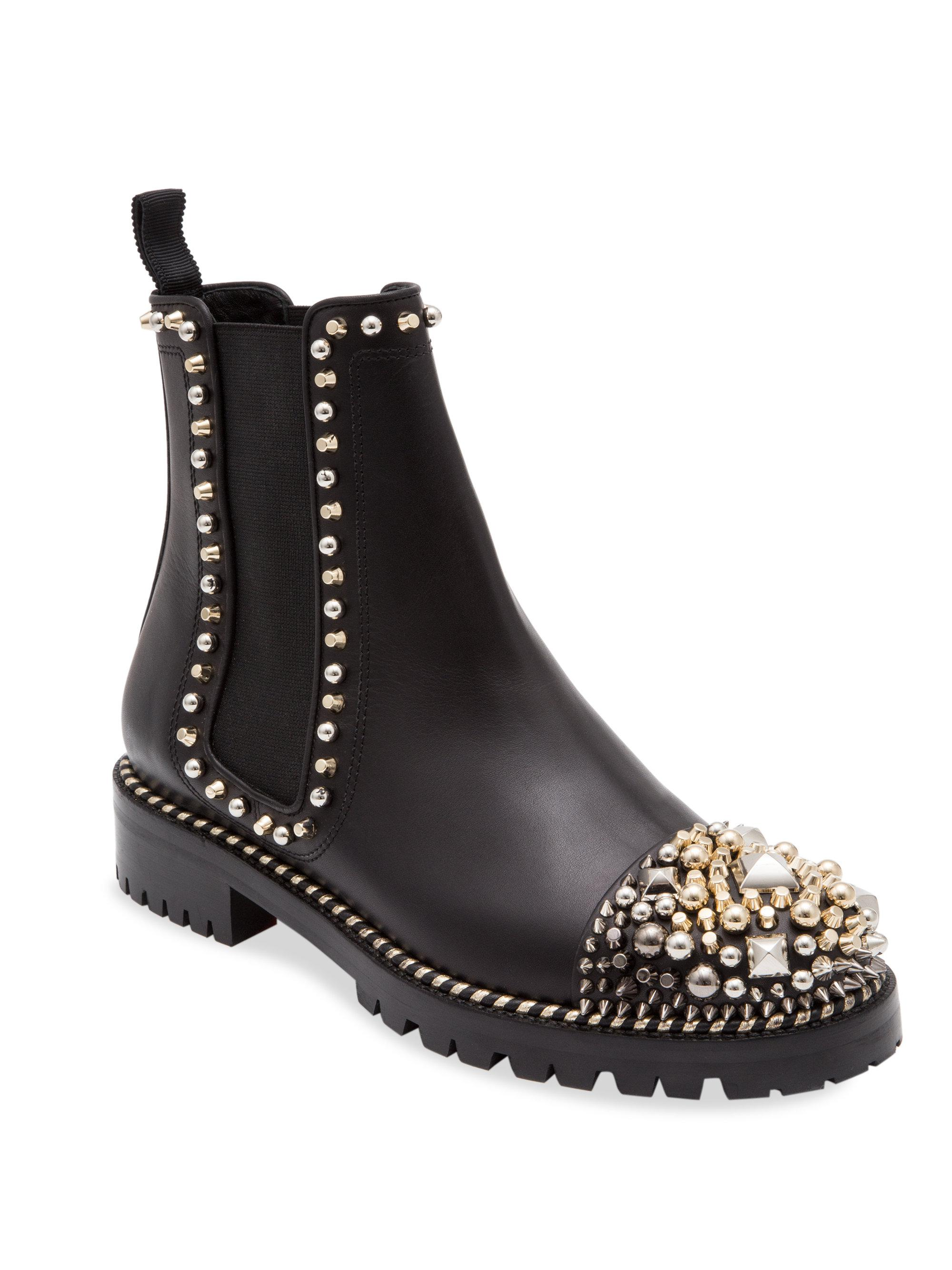 low priced 5db1c 479d2 Christian Louboutin Women's 3170782bk01o Black Leather Ankle Boots