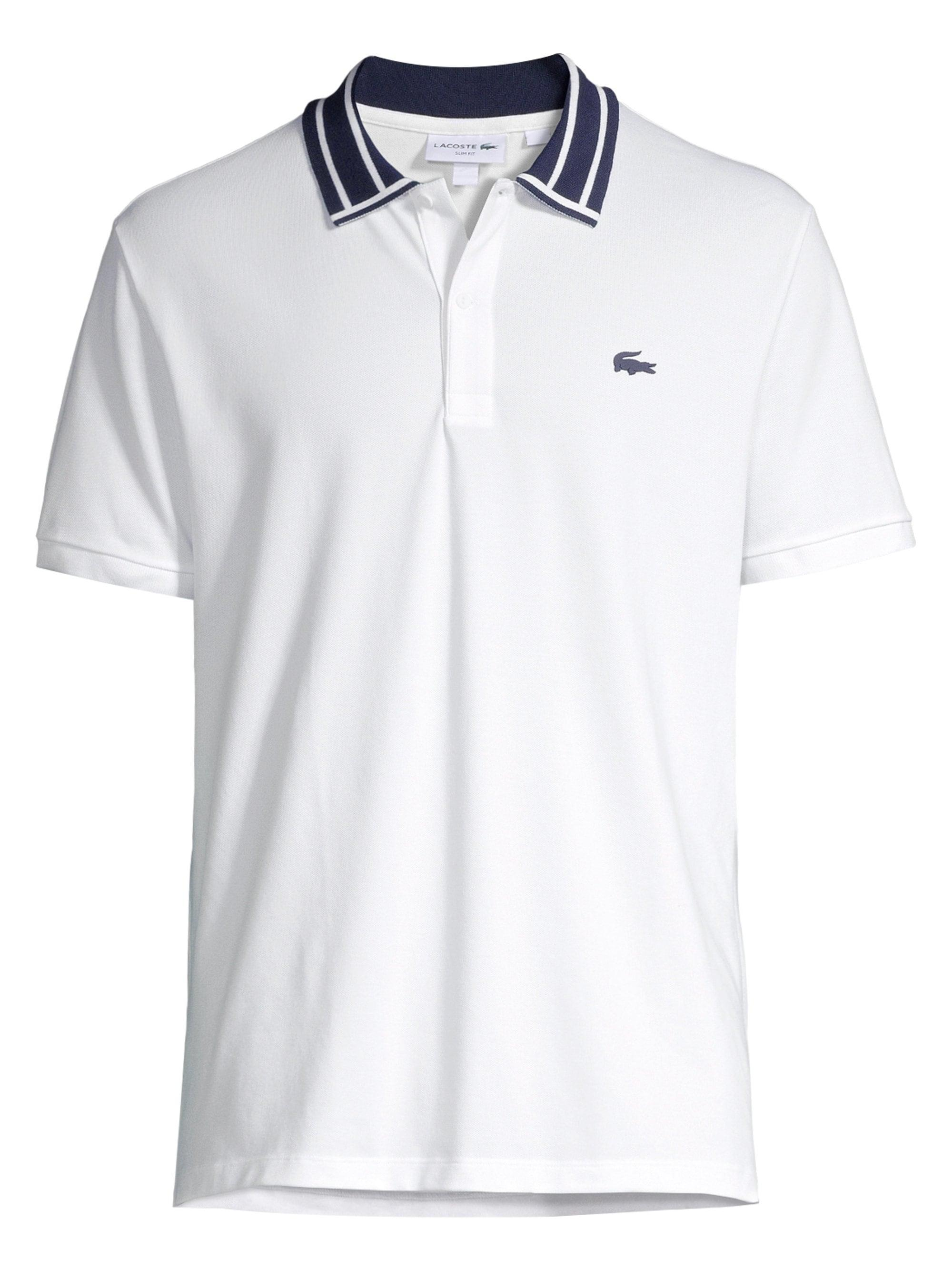 092bf995 Lyst - Lacoste Men's Slim-fit Stretch Pique Polo - White - Size 7 ...