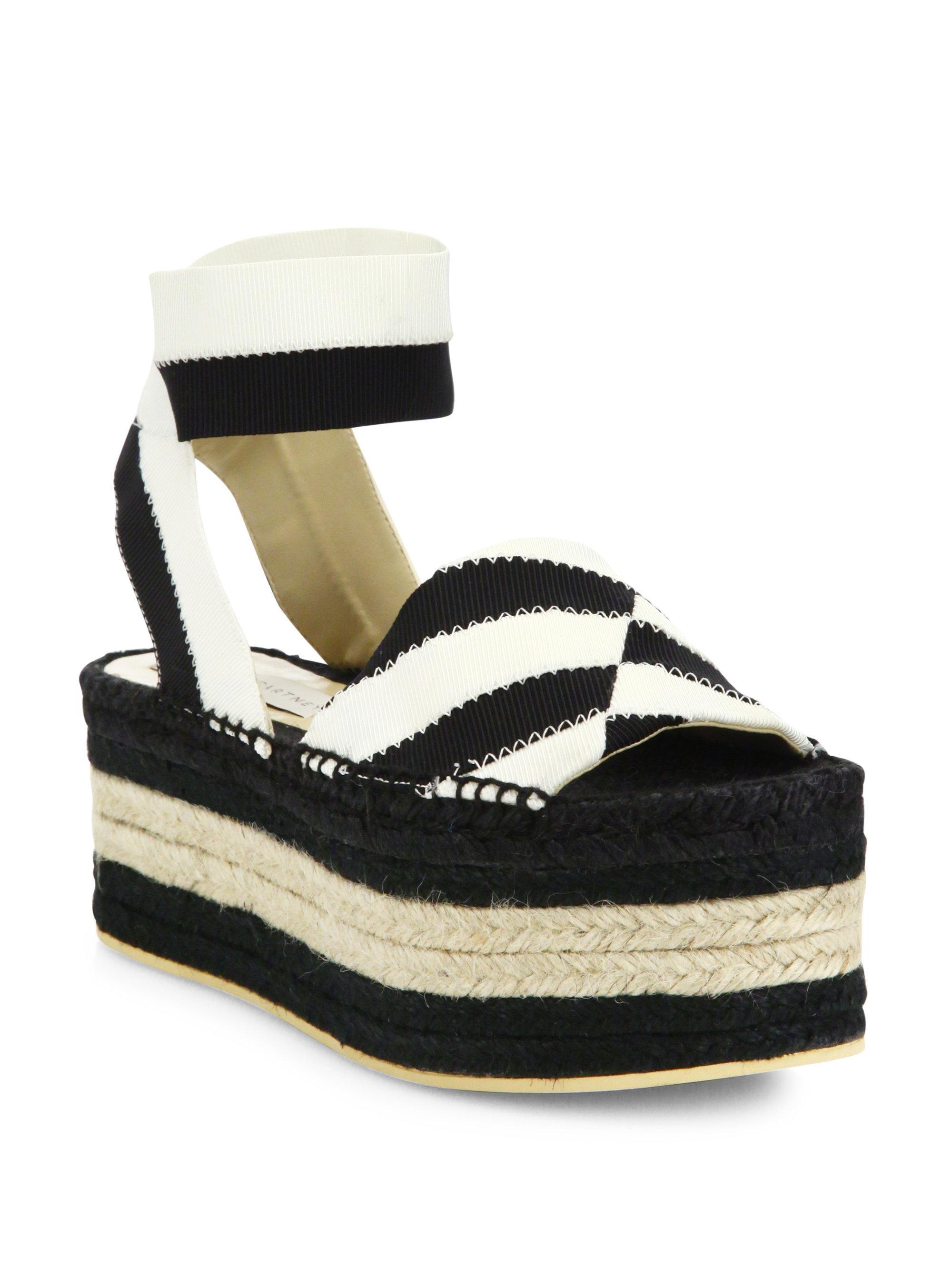 Sale Finishline Stella McCartney Striped espadrille platform sandals How Much Cheap Online Discount Good Selling Discount Cost 2GIFLjQBnv
