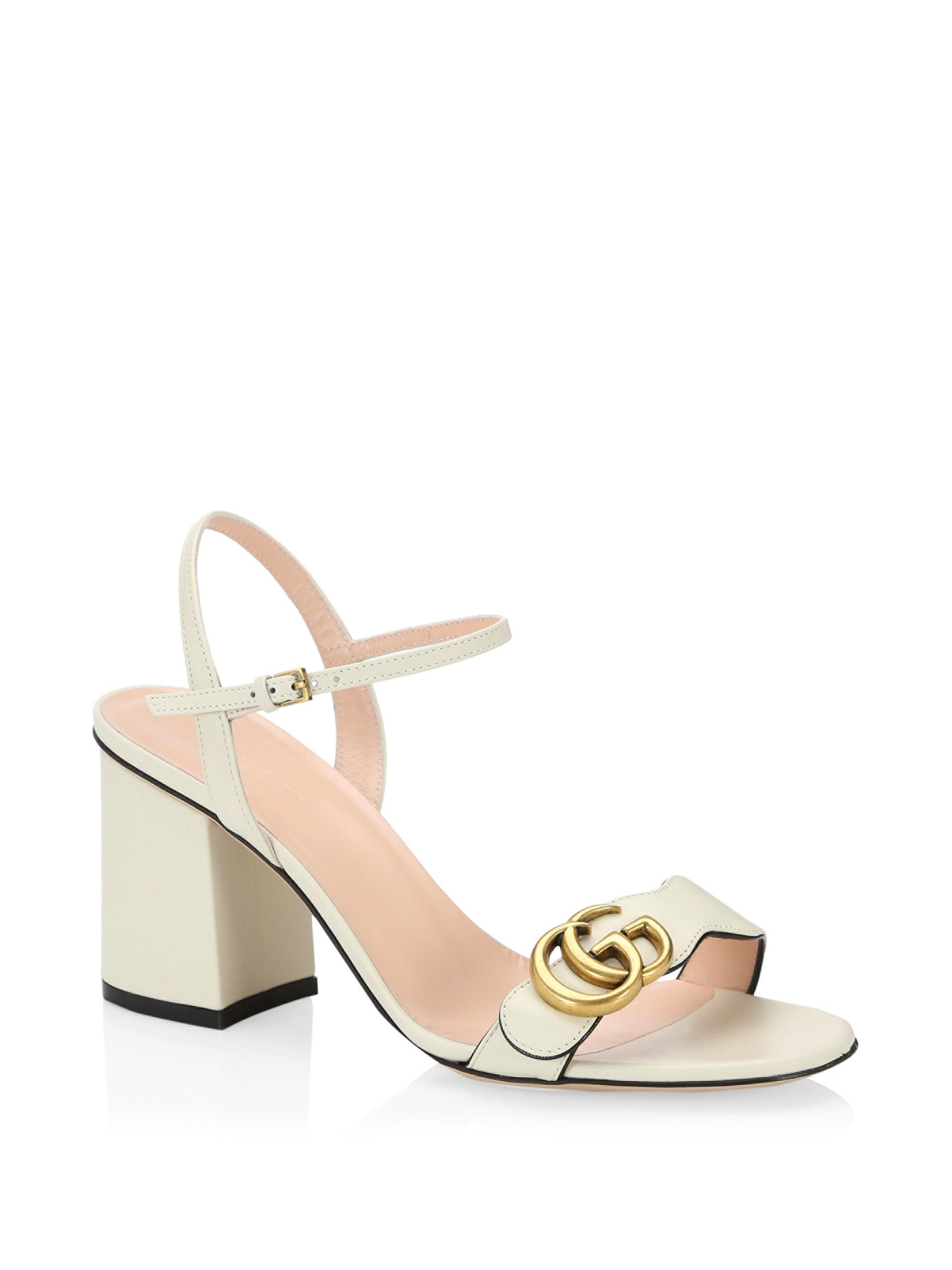 14a8cd8896b6 Gucci Marmont GG Ankle-strap Sandals - Lyst