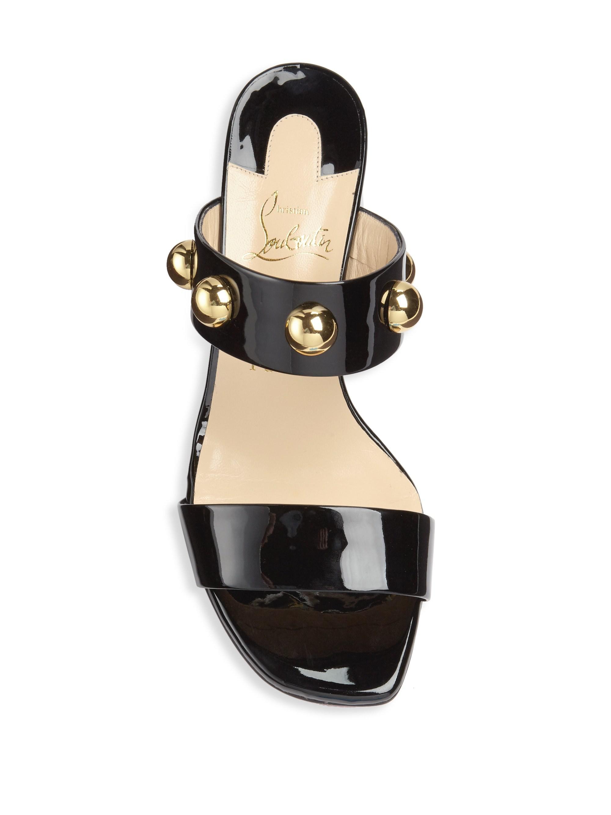 super popular 6722f dfcc8 Christian Louboutin Black Simple Bille 55 Leather Sandals