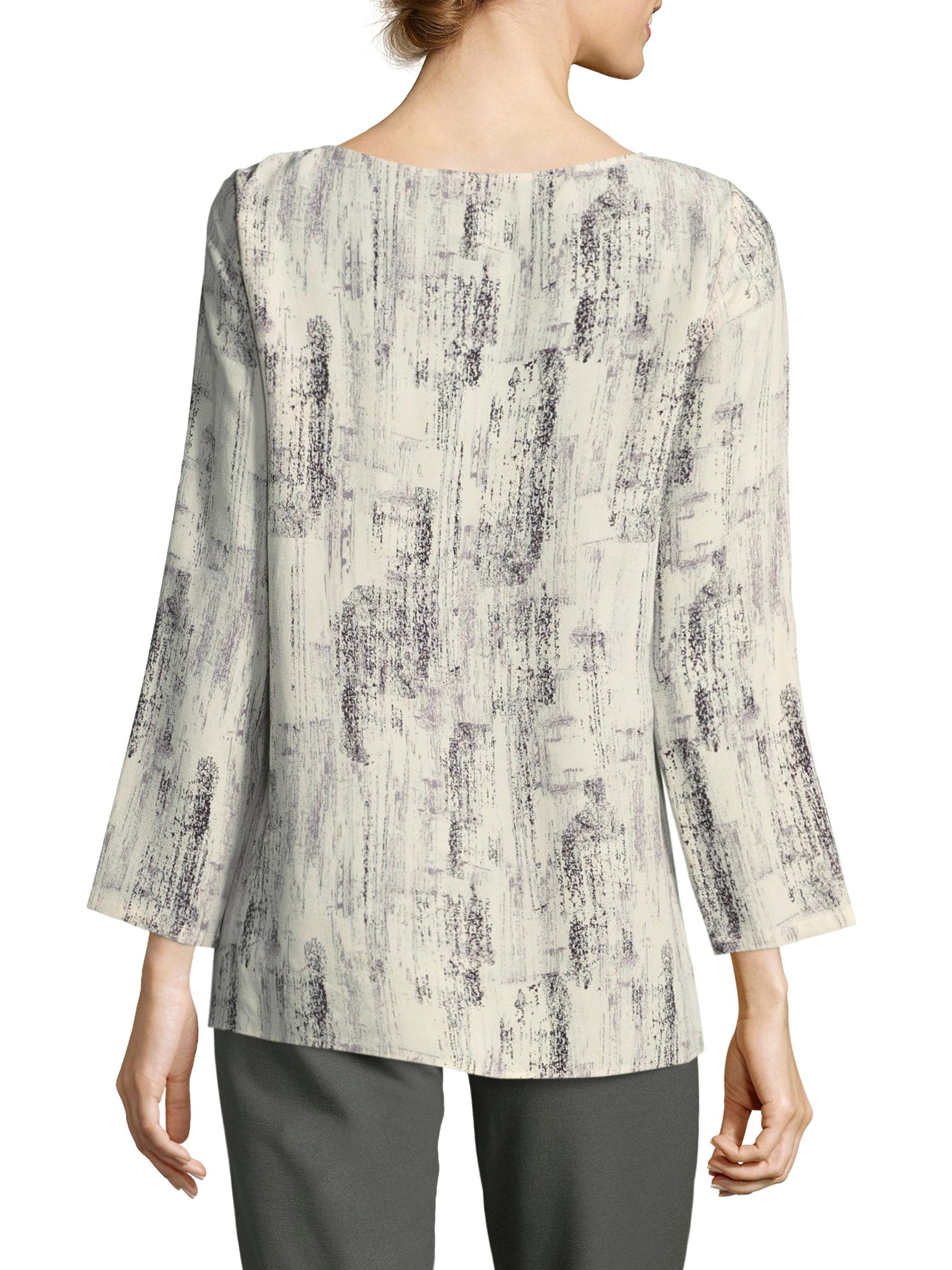 97d371bf0ca Lyst - Eileen Fisher Boatneck Top