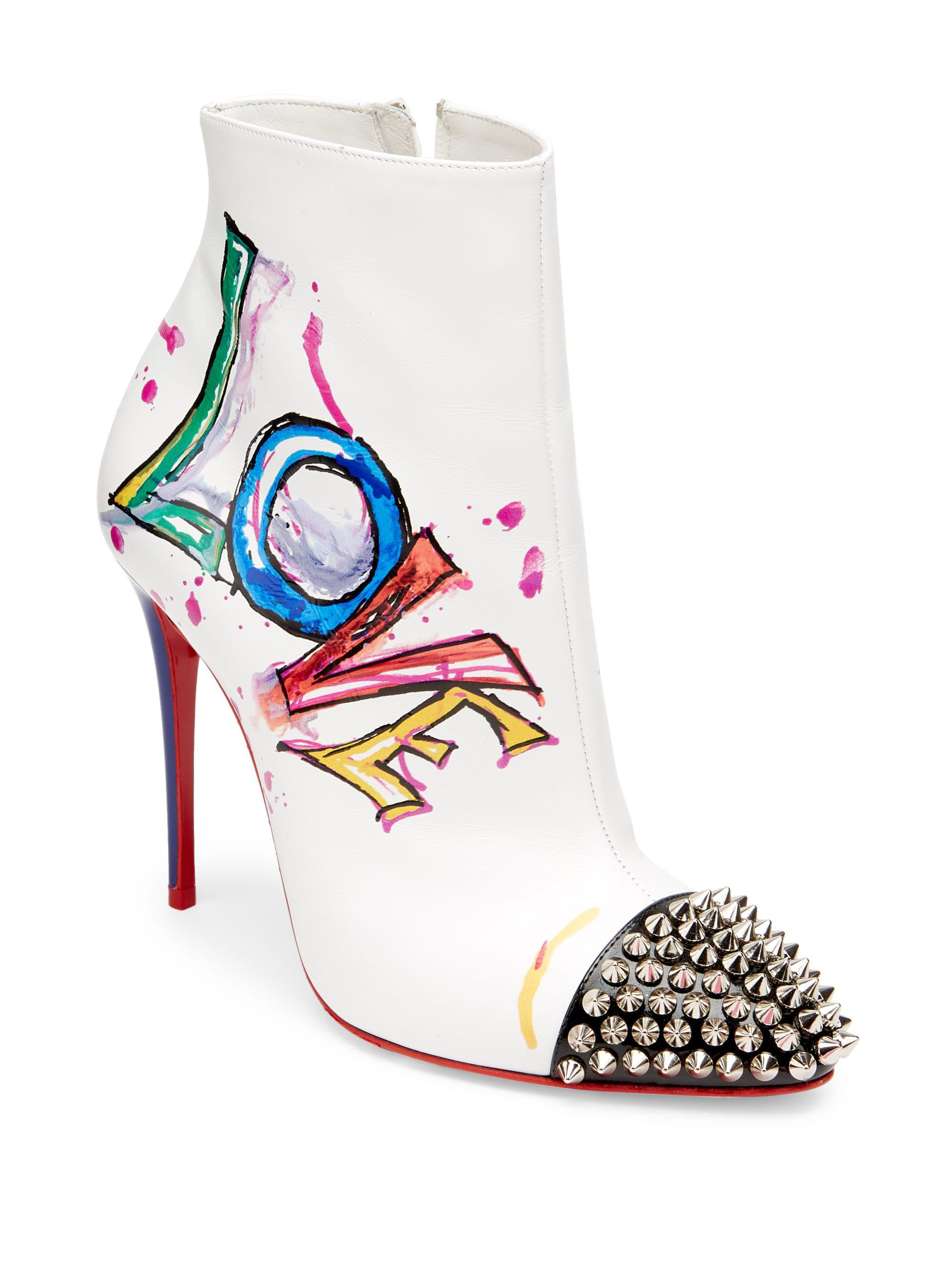 7764467b4a9f Lyst - Christian Louboutin Love Is A Boot 100 Leather Booties