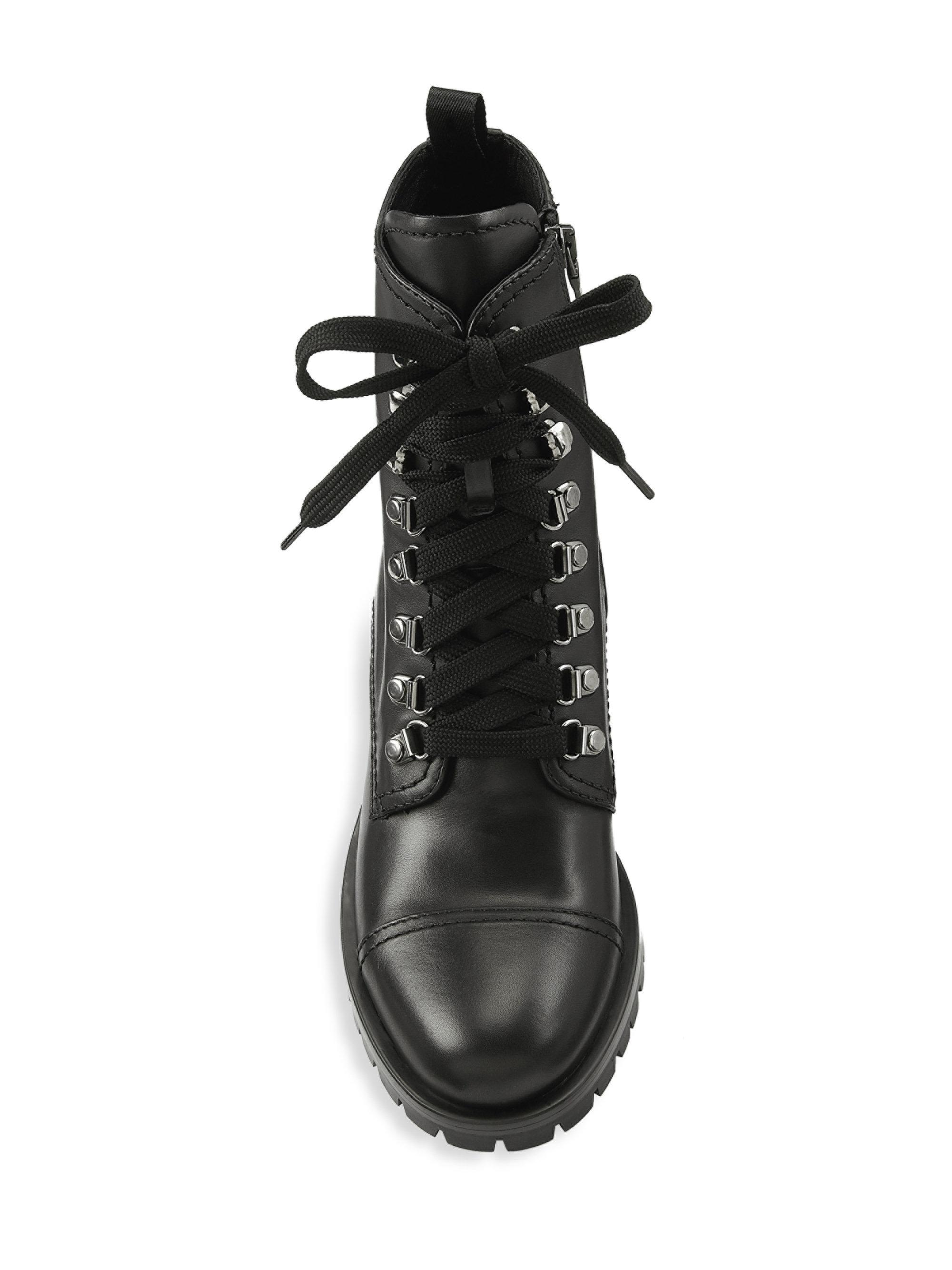 565314f3 Prada Black Soft Leather Combat Boots
