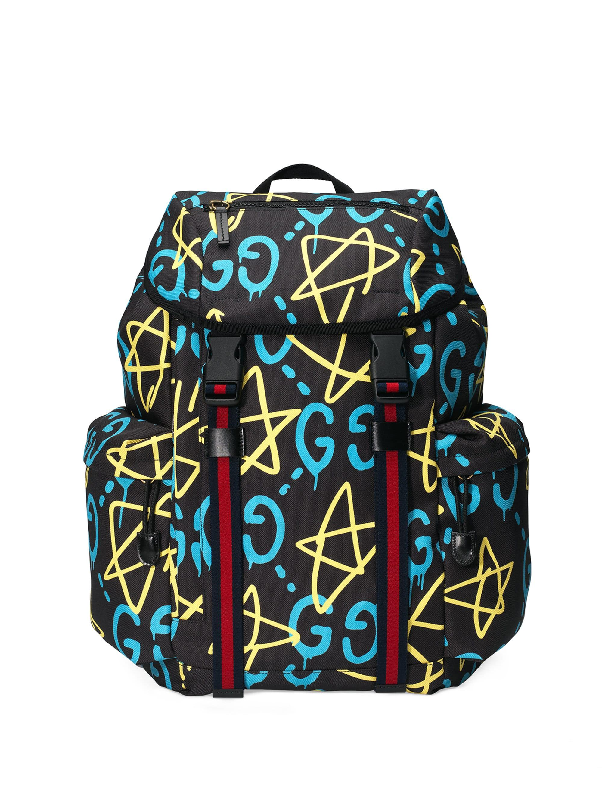 b5f2672ba7cb Gucci Ghost Stars Canvas Backpack for Men - Lyst