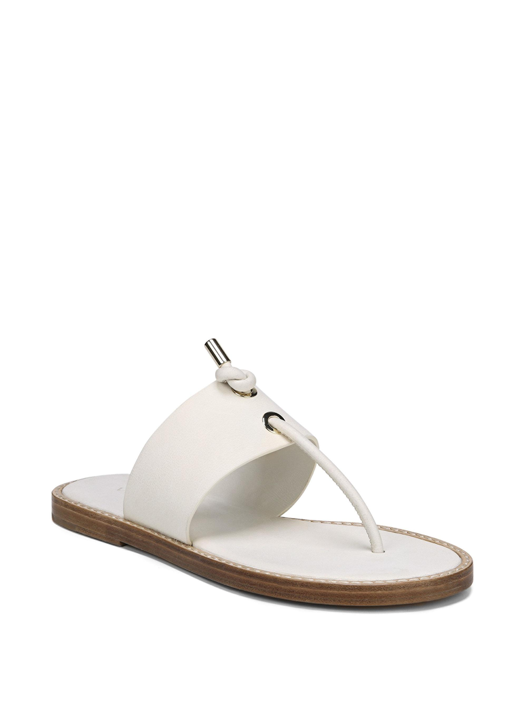 Vince Caelan Leather Thong Sandals 4AXZt6oP