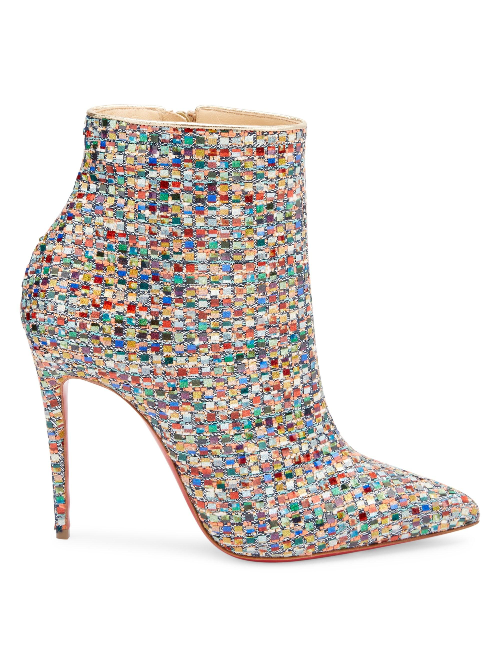 89f6195ef96 Christian Louboutin Multicolor Women's So Kate 100 Patchwork Point Toe  Booties