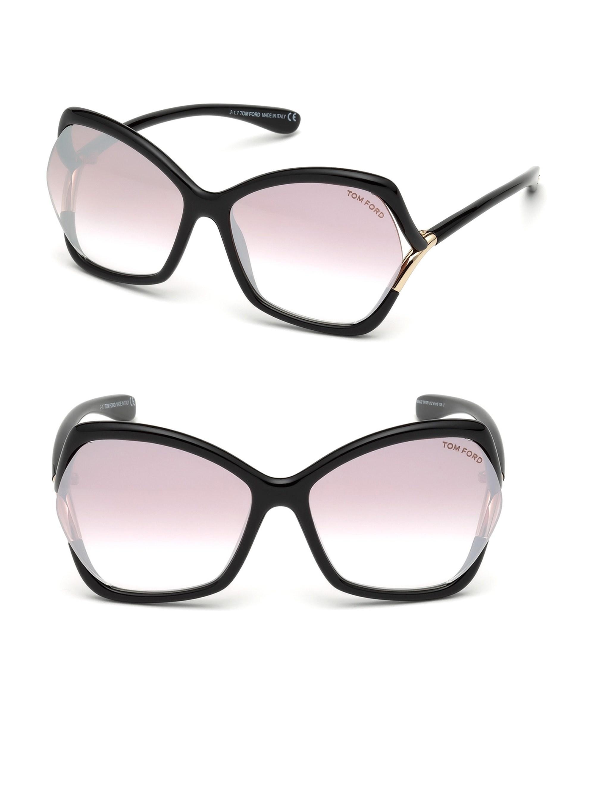 024f21f73d8b Lyst - Tom Ford Women s 61mm Astrid Oversized Pink Lens Sunglasses ...